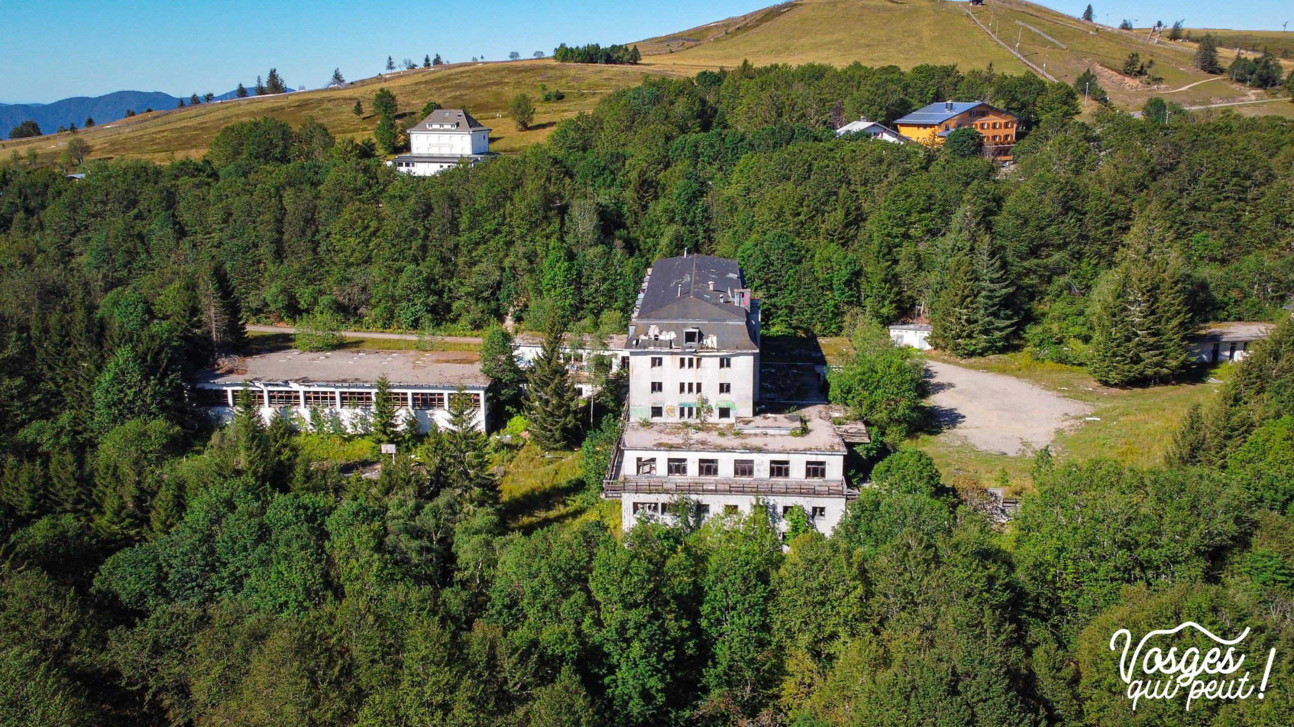 Vue aérienne de l'ancienne colonie de vacances du Markstein