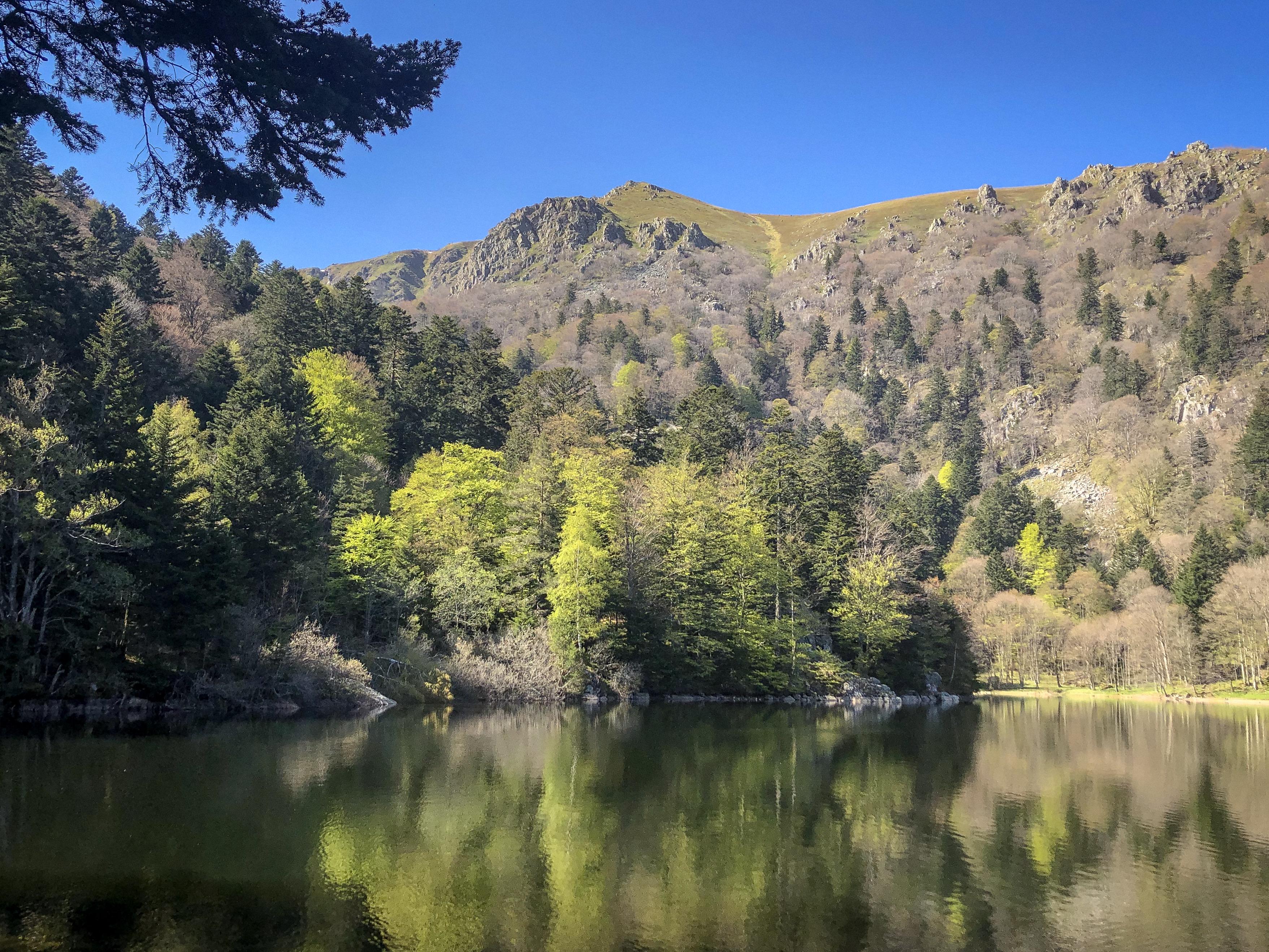 Le lac du Schiessrothried dans les vosges