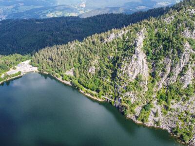 Le lac Blanc dans le Massif des Vosges