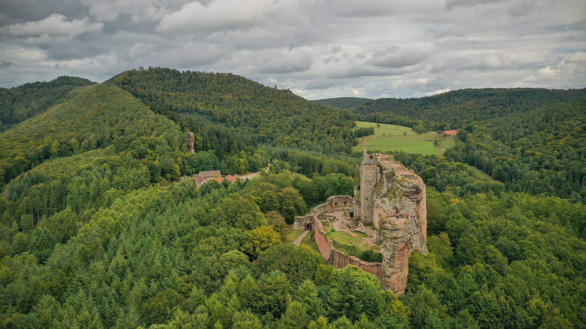 Le château de Fleckenstein, au milieu des forêts des Vosges du Nord