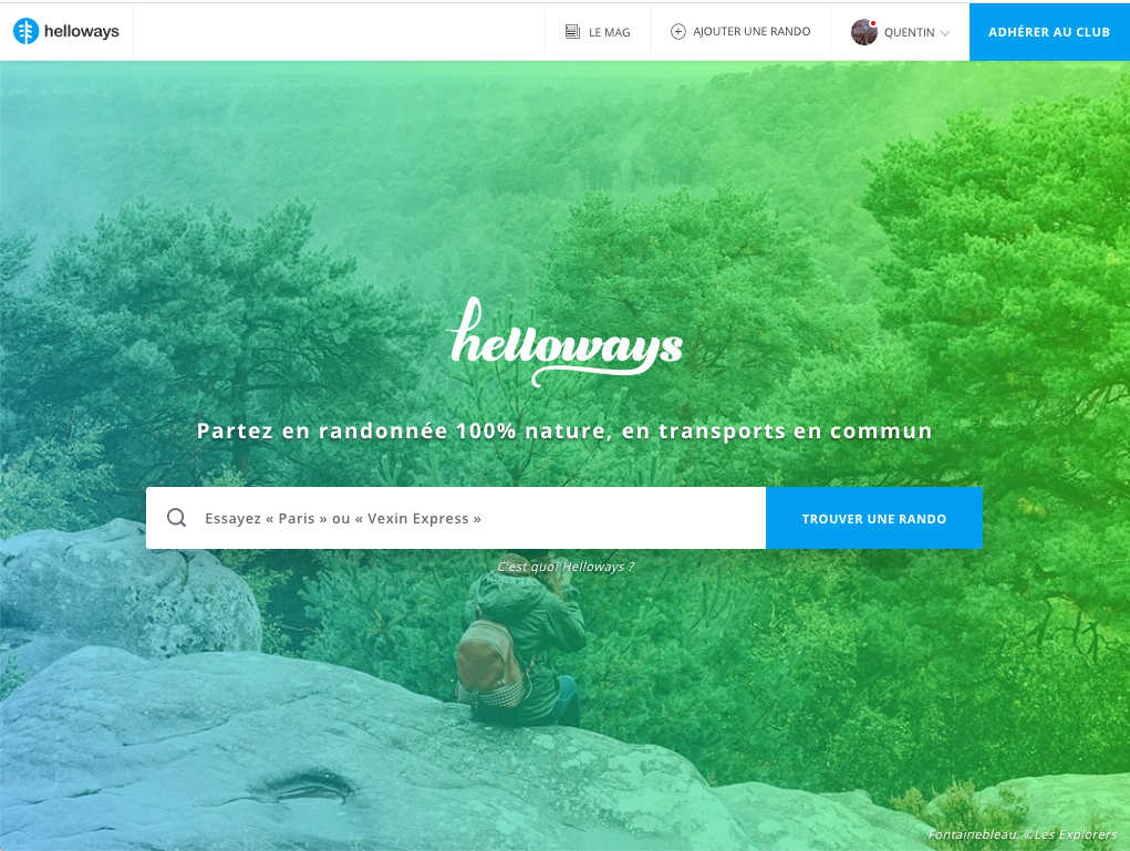 Page d'accueil de Helloways.com