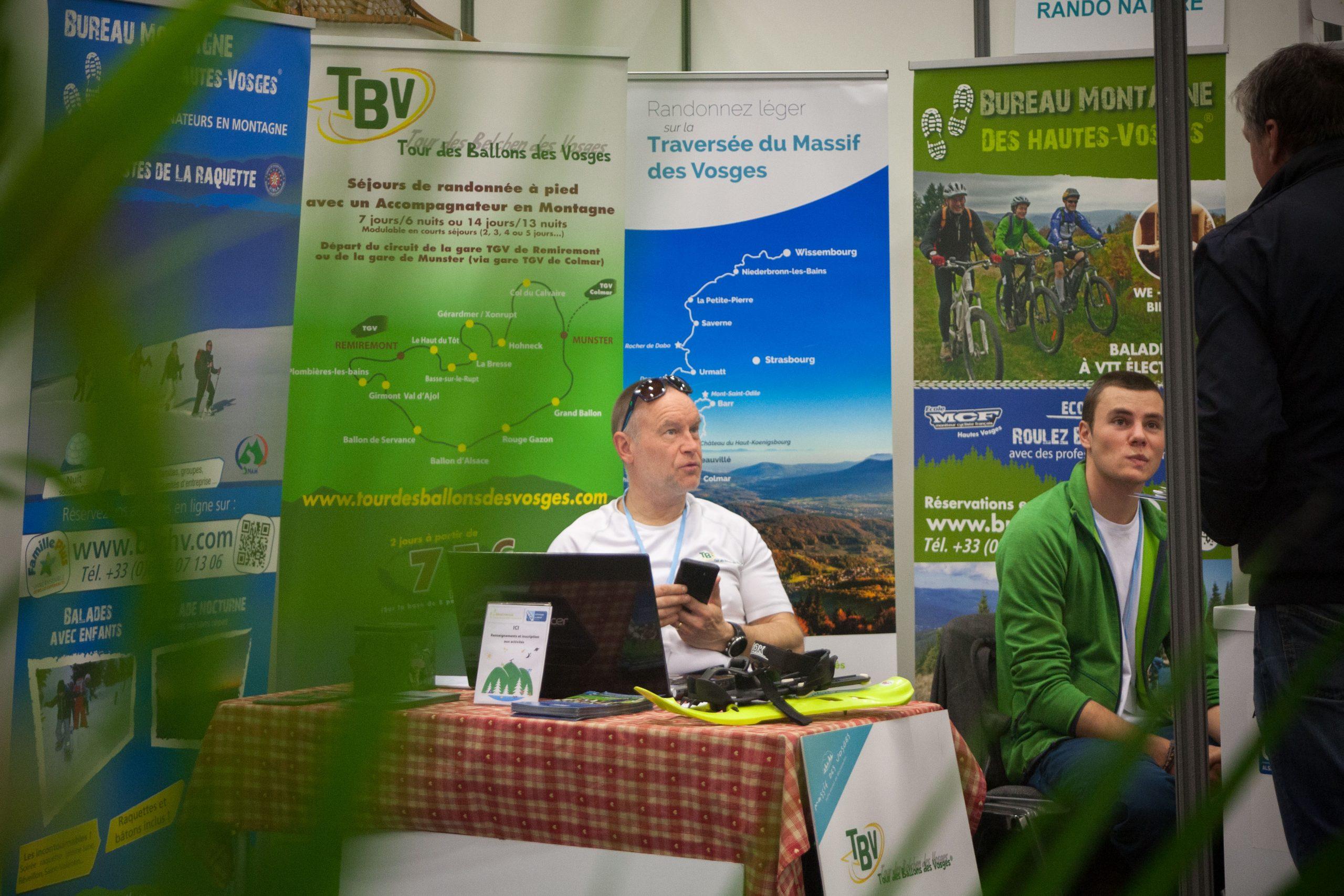 Laurent Cahon, président de l'association Séjours Rando Nature dans les Vosges au salon Tourissimo