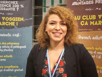 Yamina Ben Ali, directrice de la Fédération du Club Vosgien au salon Tourissimo