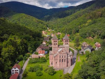 L'abbaye St-Léger de Murbach dans le Florival à côté de Guebwiller en Alsace