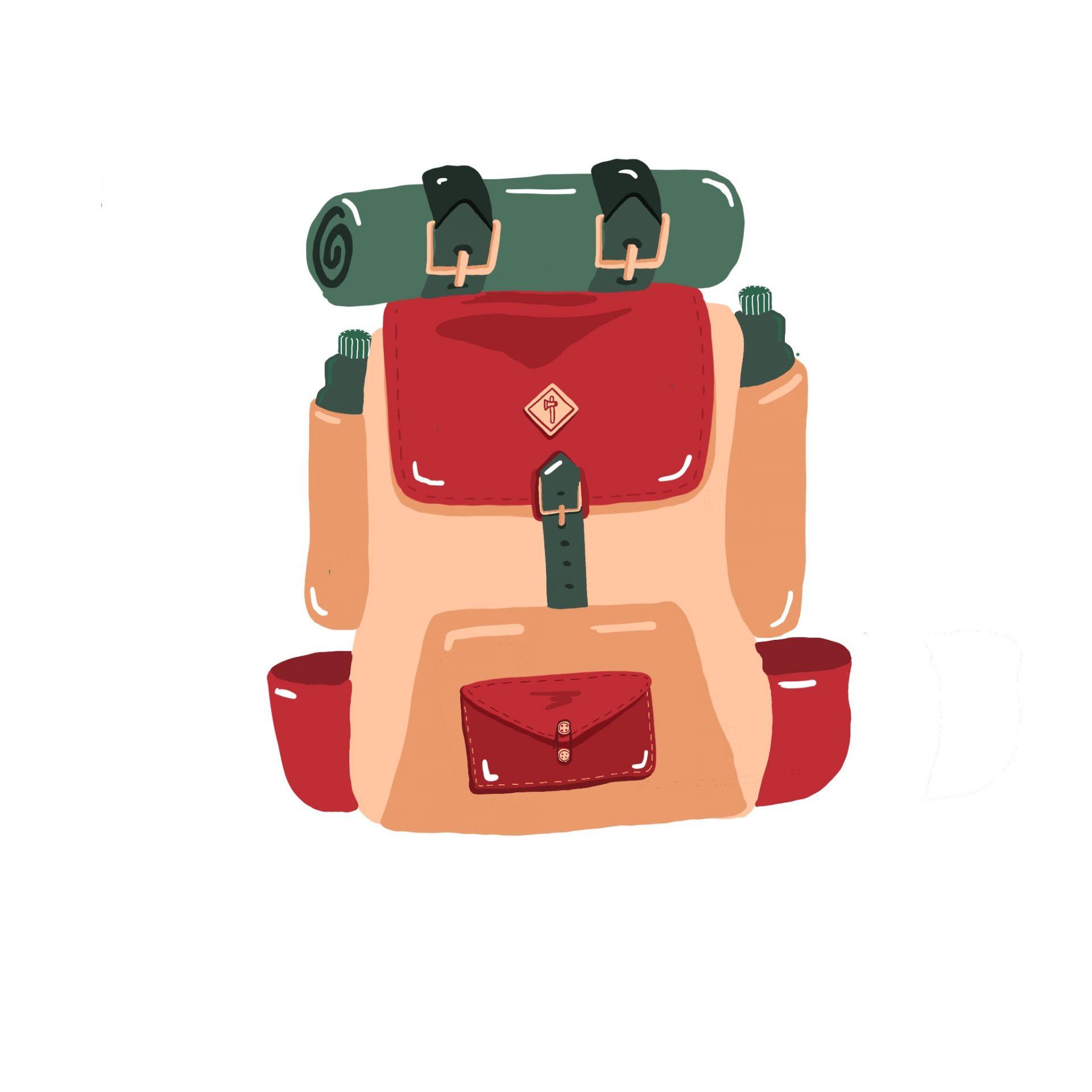 Illustration d'un sac à dos de randonnée sur le blog de randos Vosges qui peut !