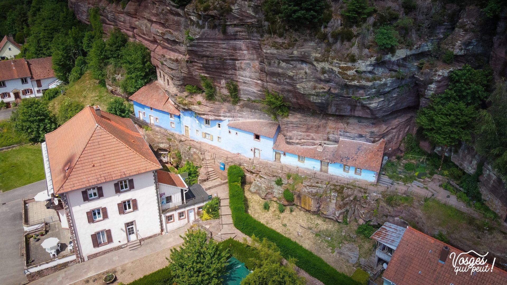 Maison troglodyte de Graufthal en Alsace