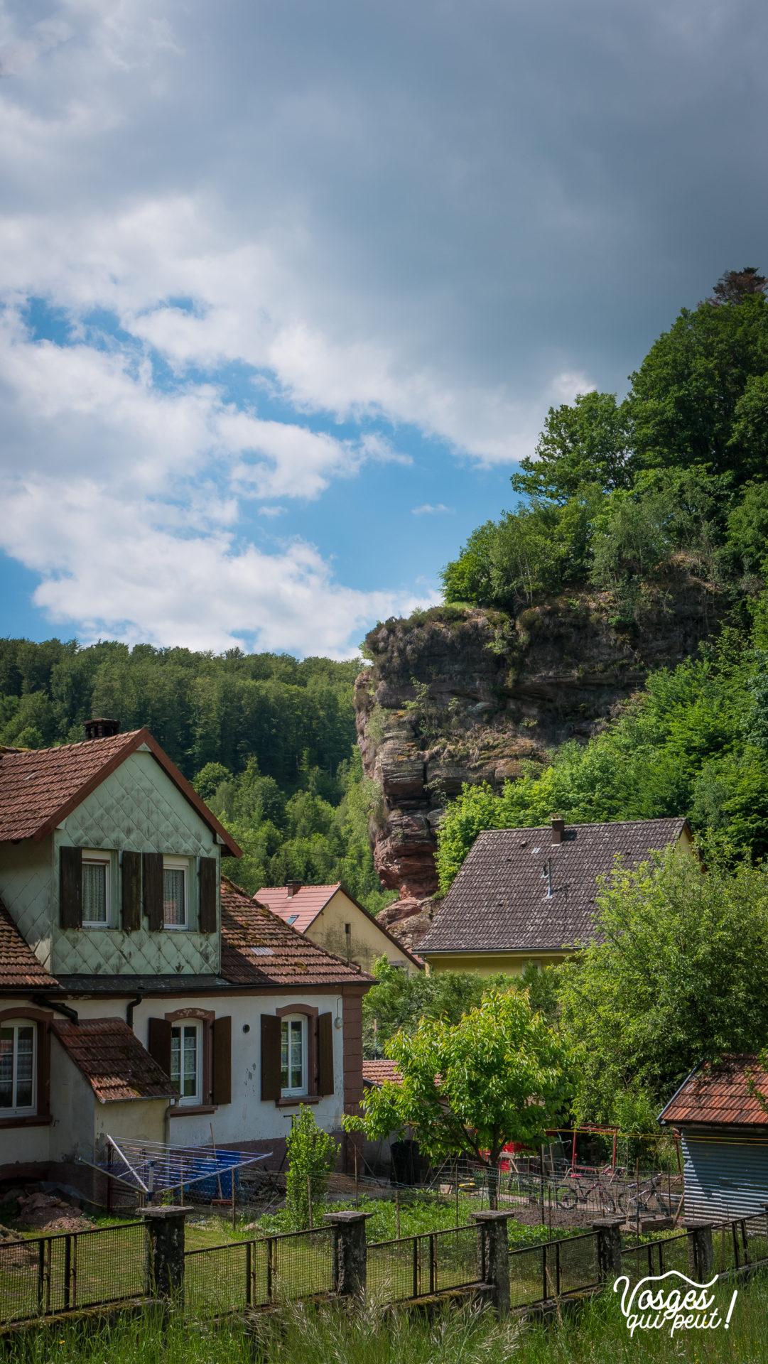 Le village de Graufthal dans les Vosges du Nord