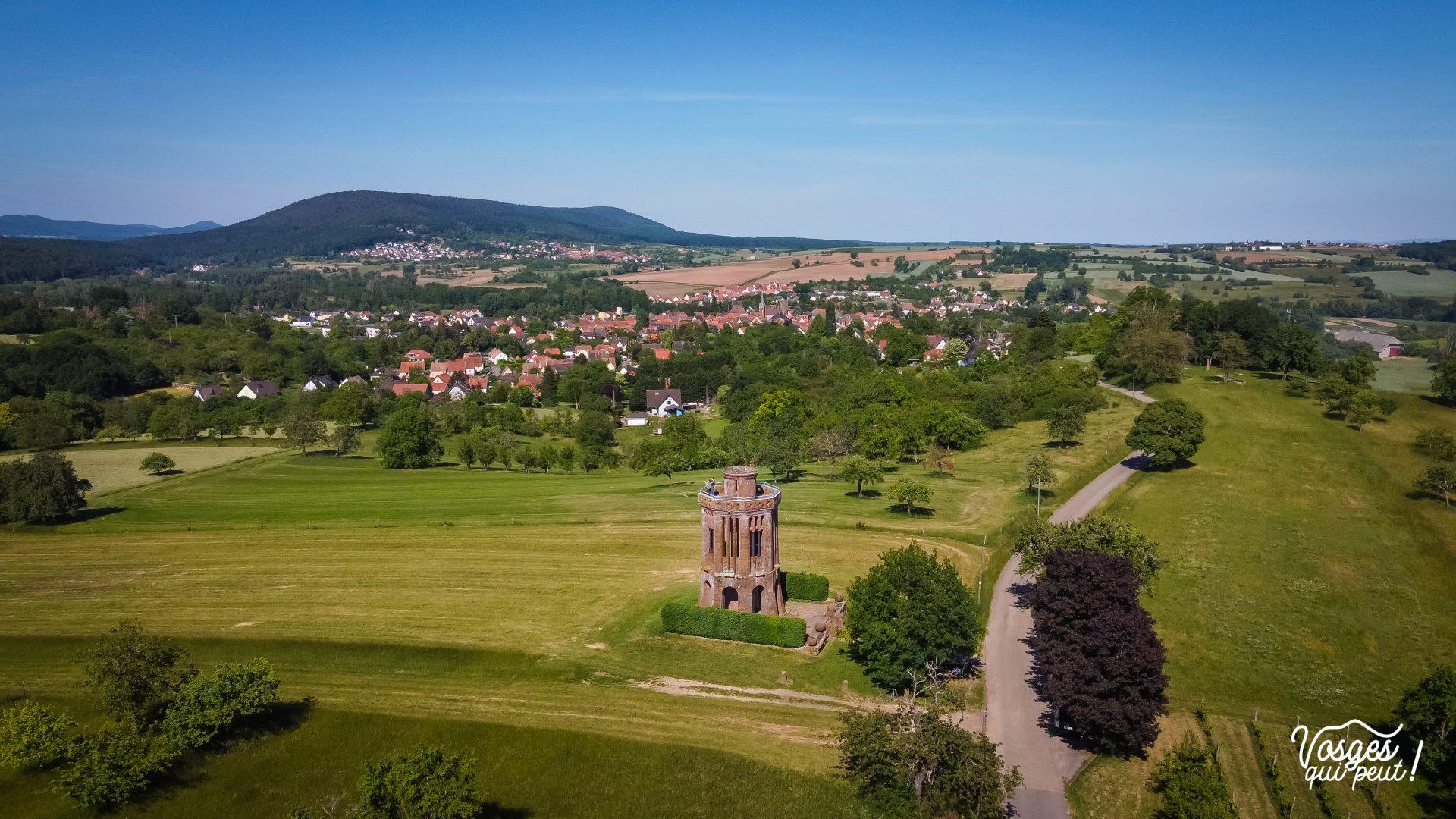 Le monument belvédère sur le champ de bataille de Woerth en Alsace