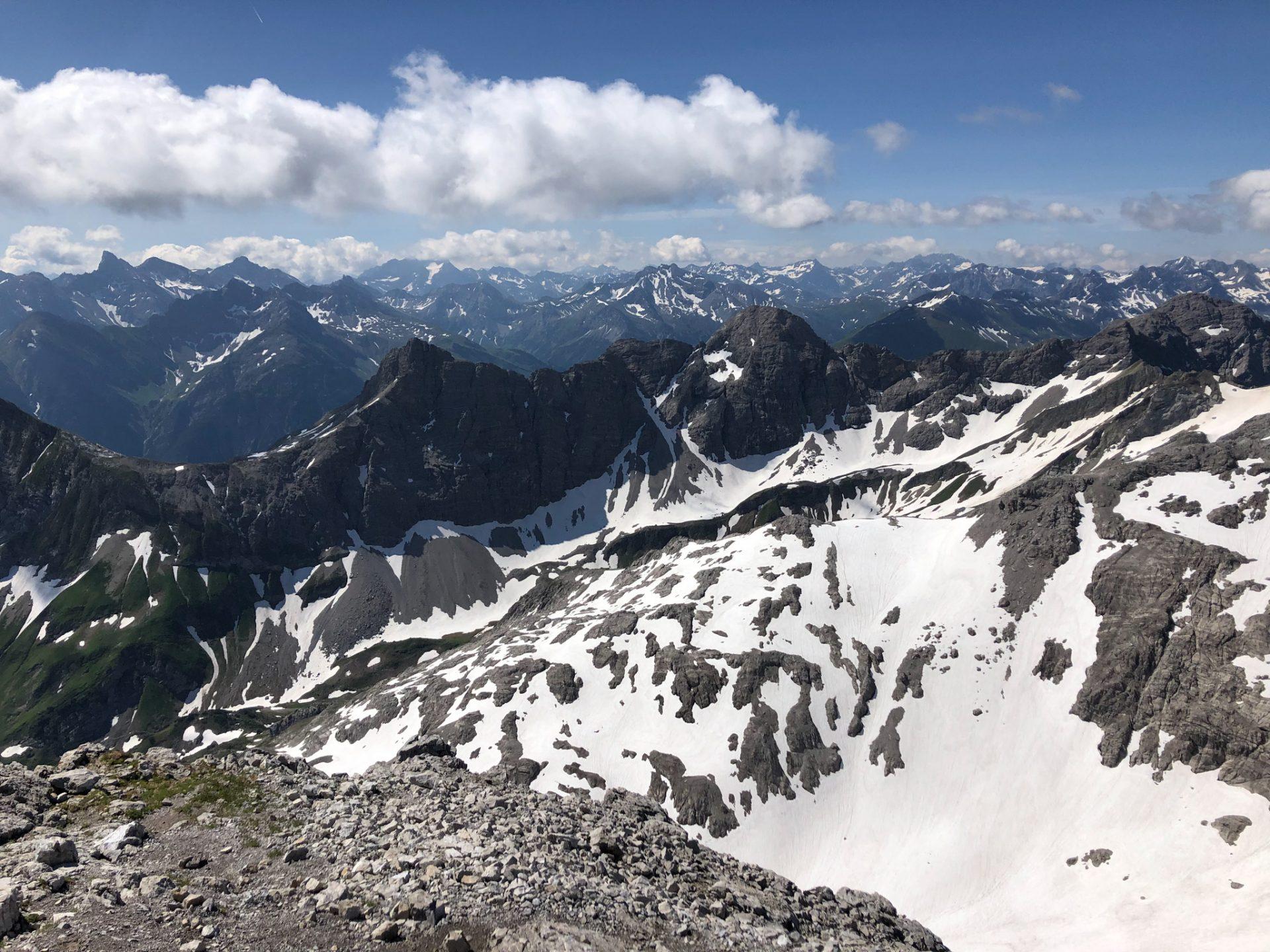 Paysage dans les Alpes d'Allgäu en Bavière