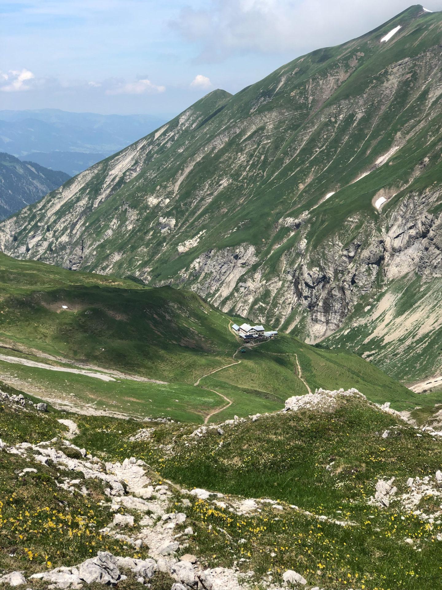 La Kemptnerhütte dans les Alpes d'Allgäu en Bavière