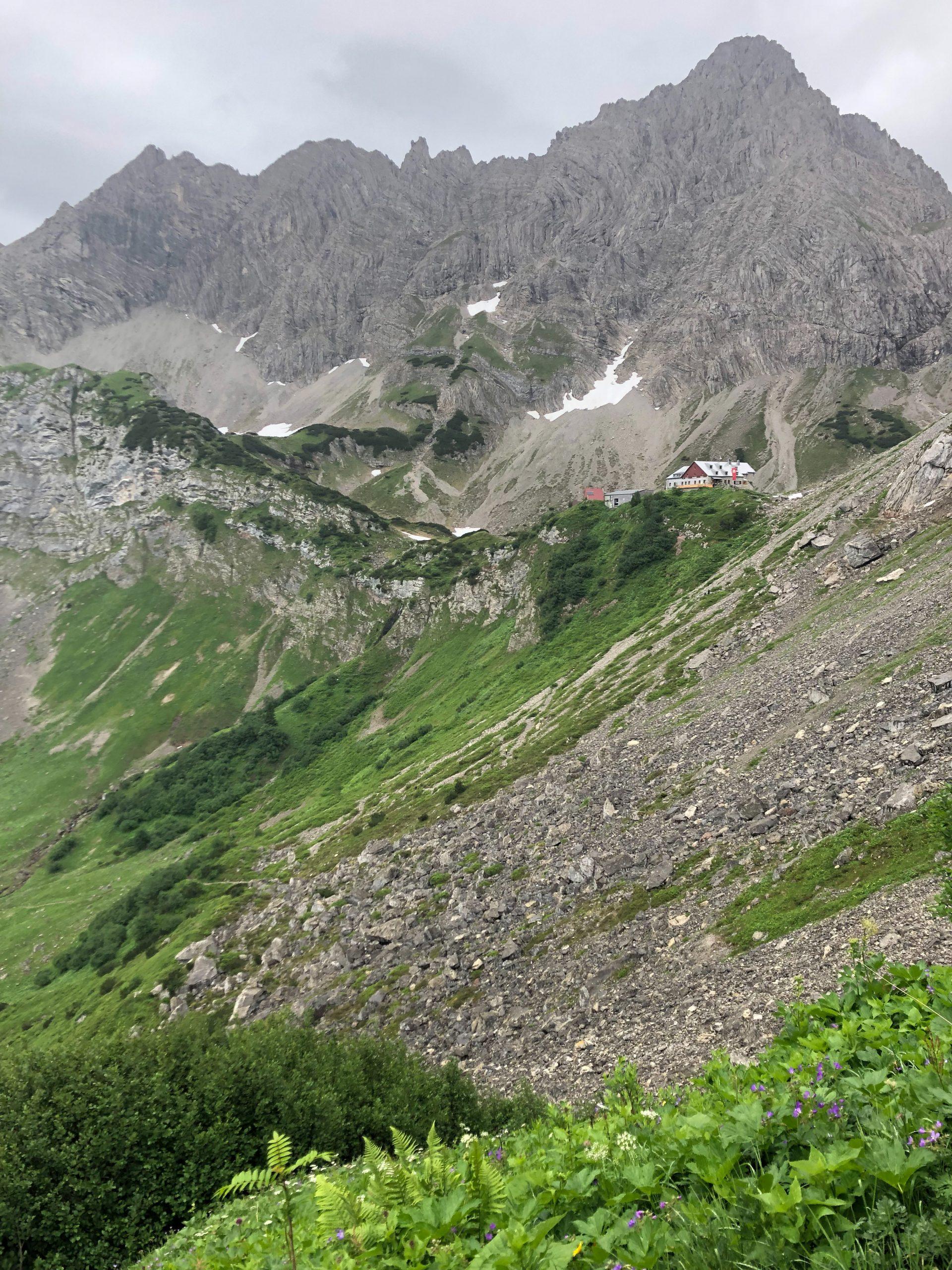 Le refuge Prinz Luitpold dans les Alpes d'Allgäu en Bavière