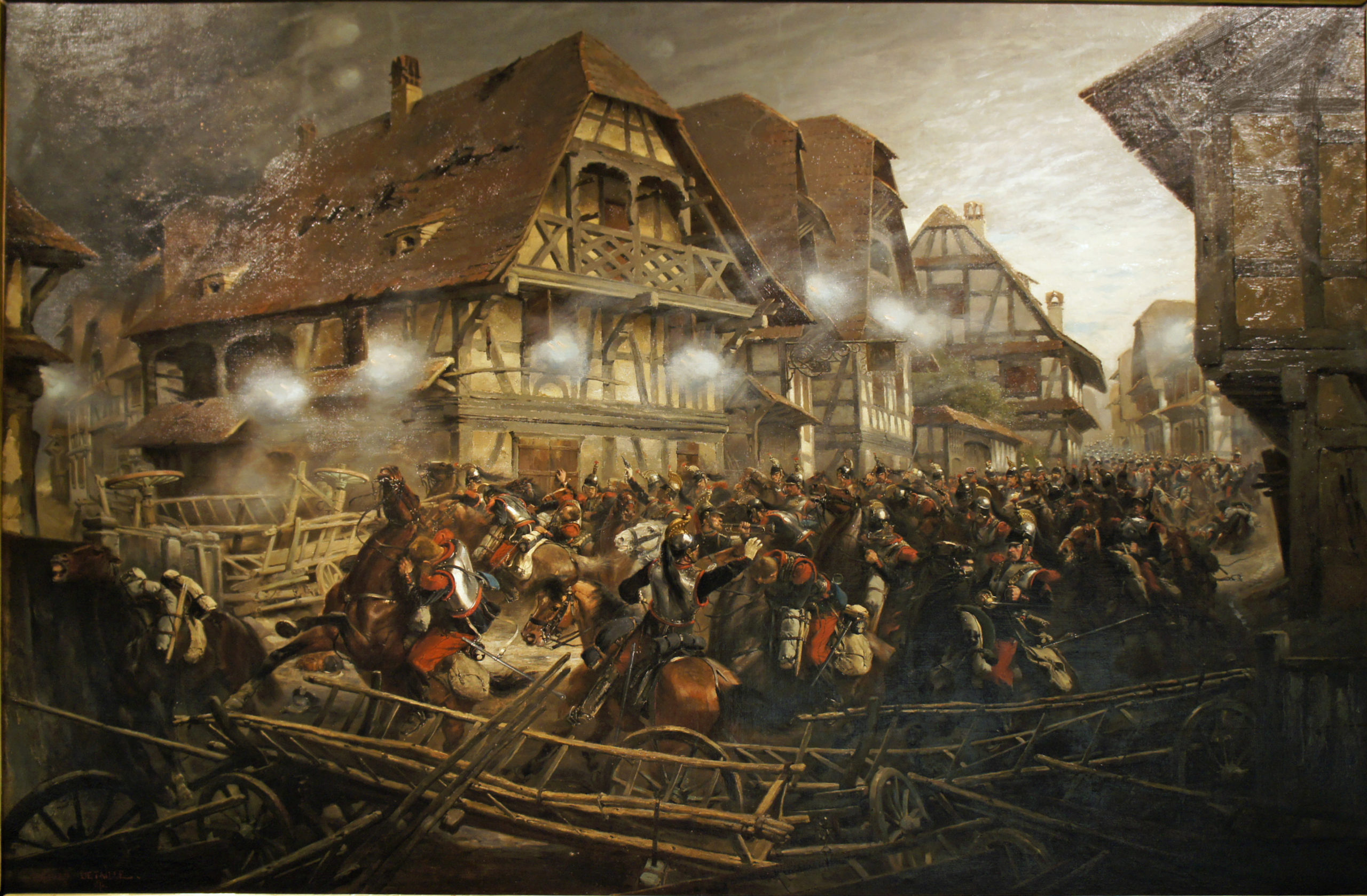 Peinture d'Édouard Détaille illustrant la charge des cuirassiers français dans Morsbronn
