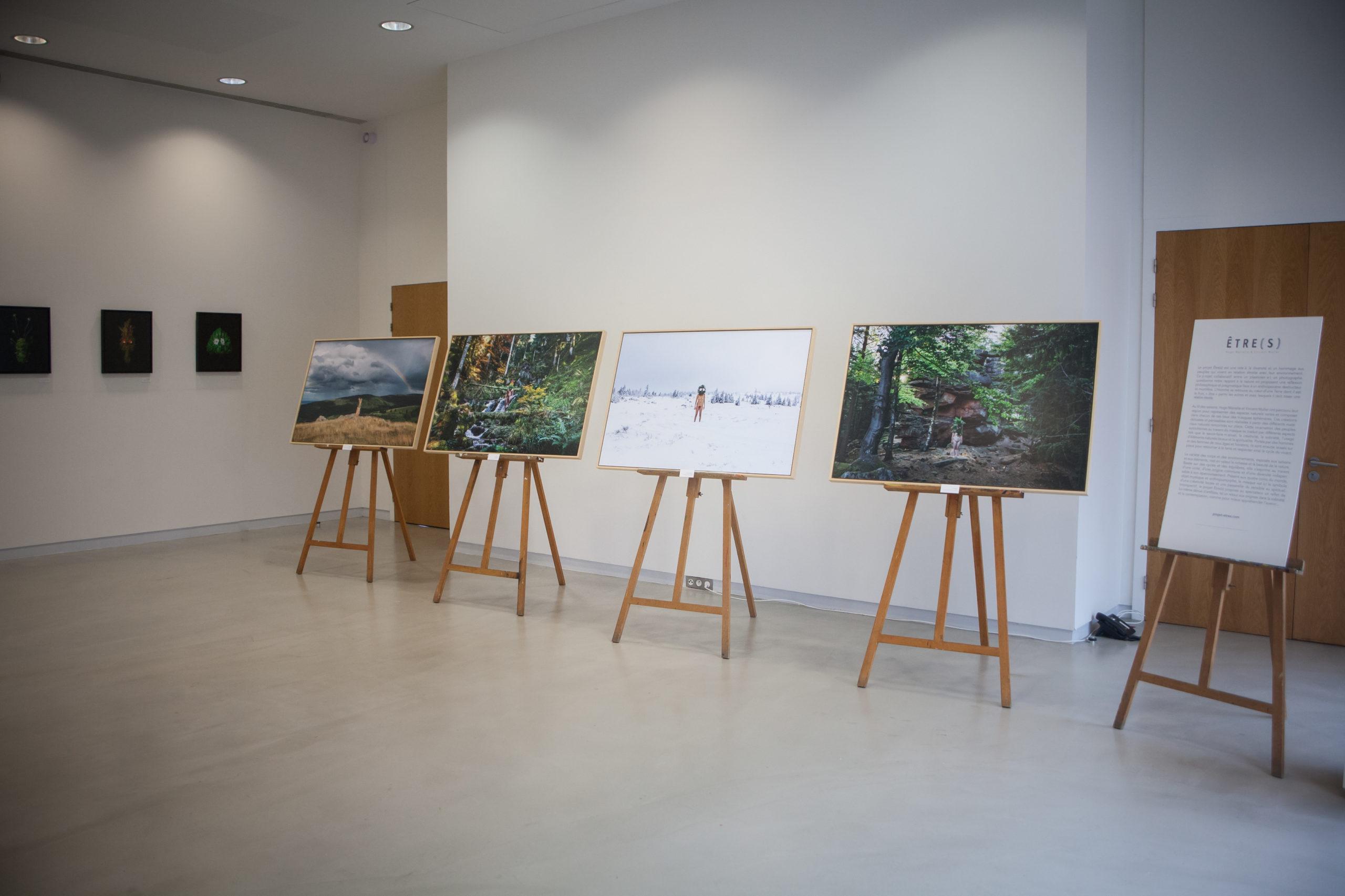 Les œuvres du projet photo « Être(s) » réalisé par le plasticien Hugo Mairelle et le photographe Vincent Muller en Alsace