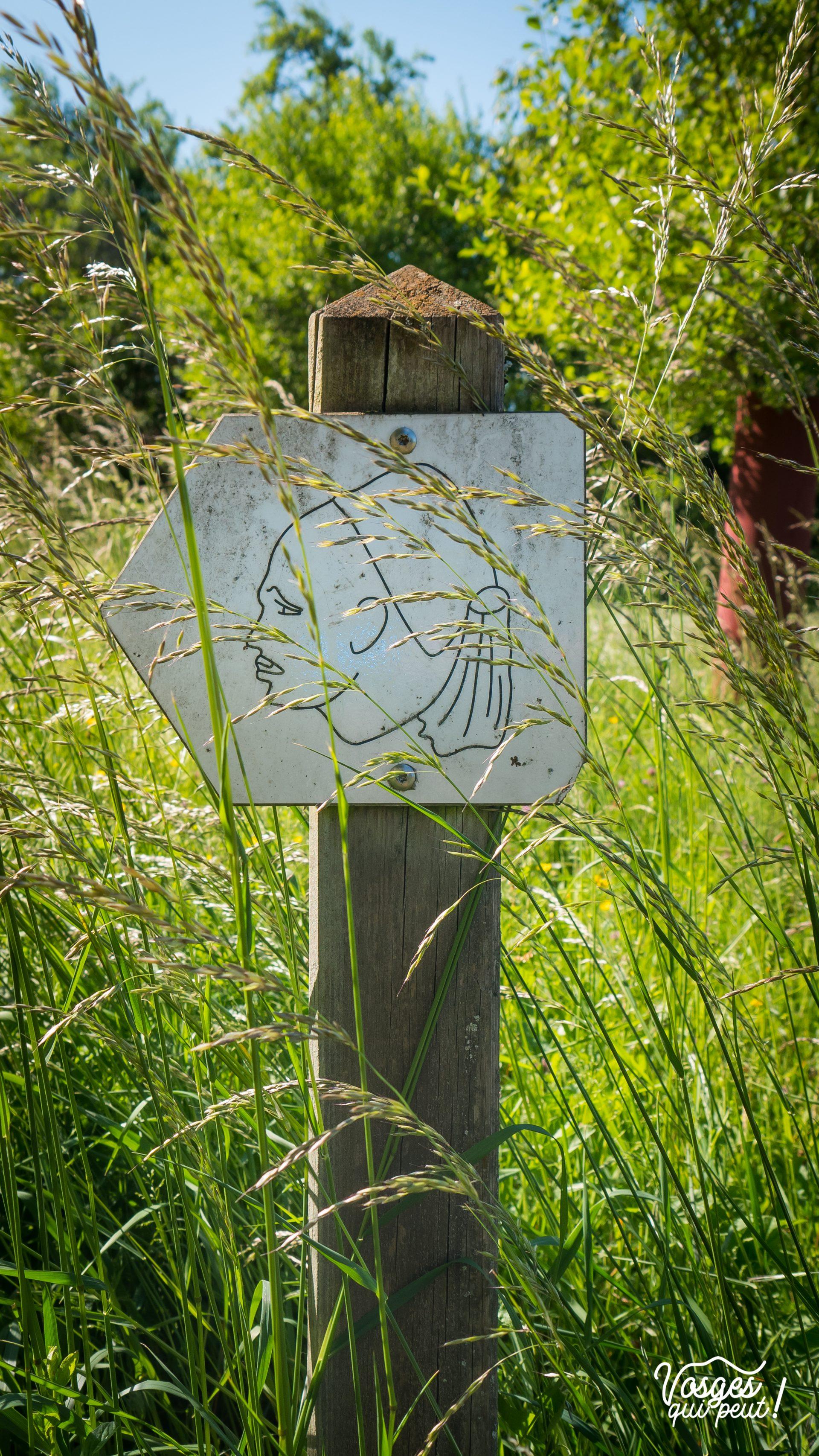 Panneau signalétique du Sentier des Turcos autour de Wœrth en Alsace