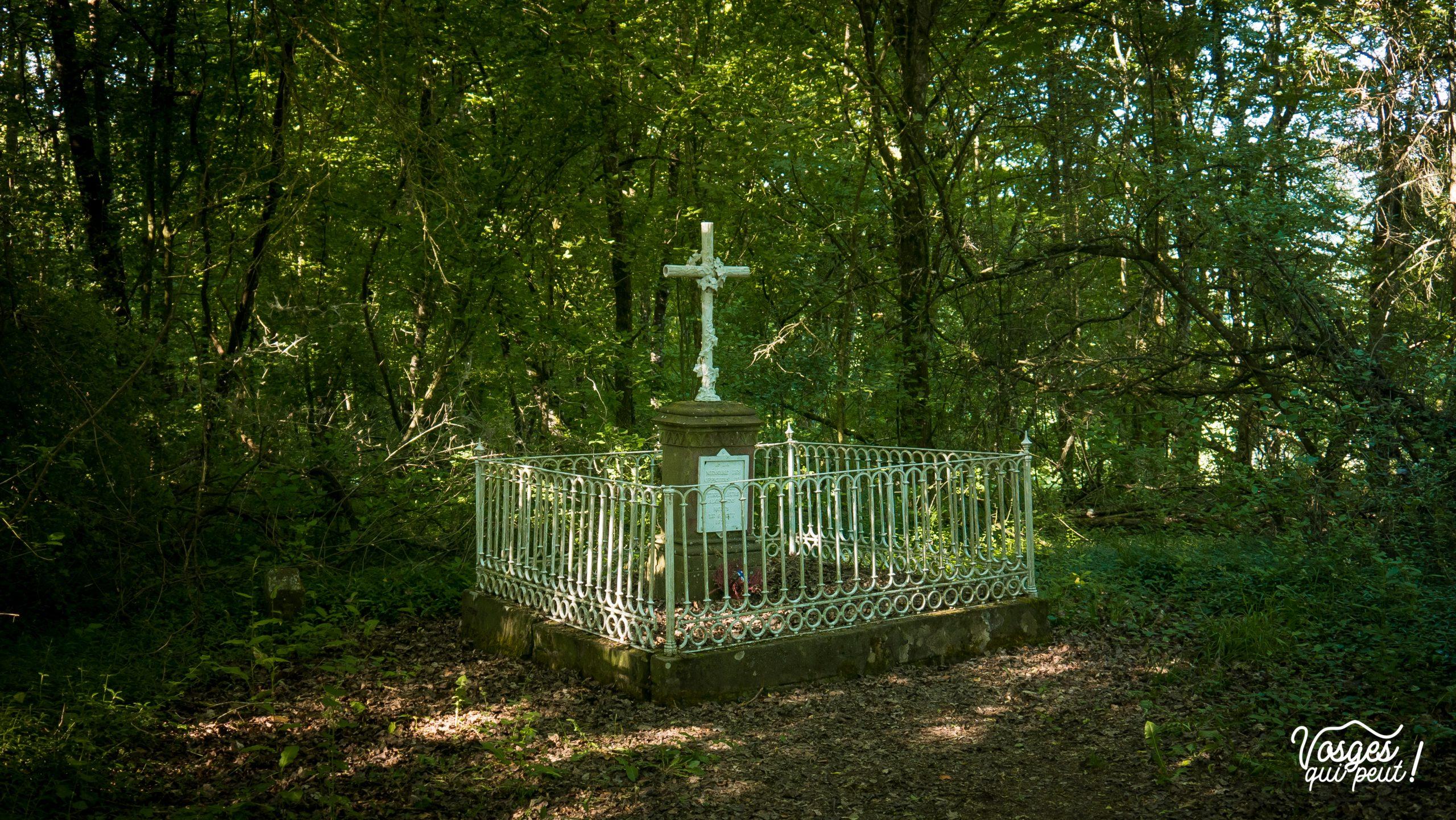 Tombe française sur le Sentier des Turcos à Wœrth