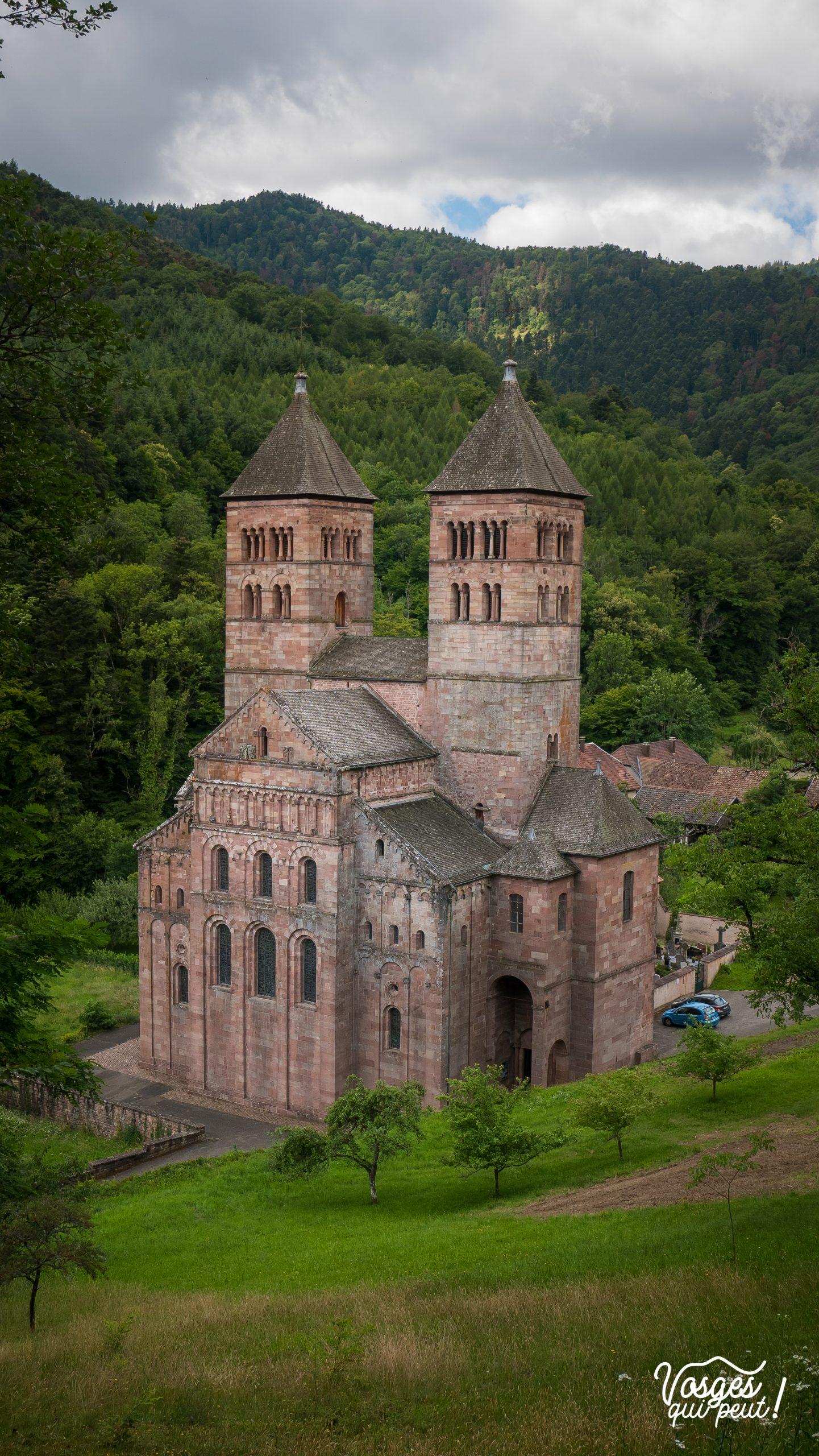 L'église abbatiale St-Léger à Murbach à côté de Guebwiller en Alsace