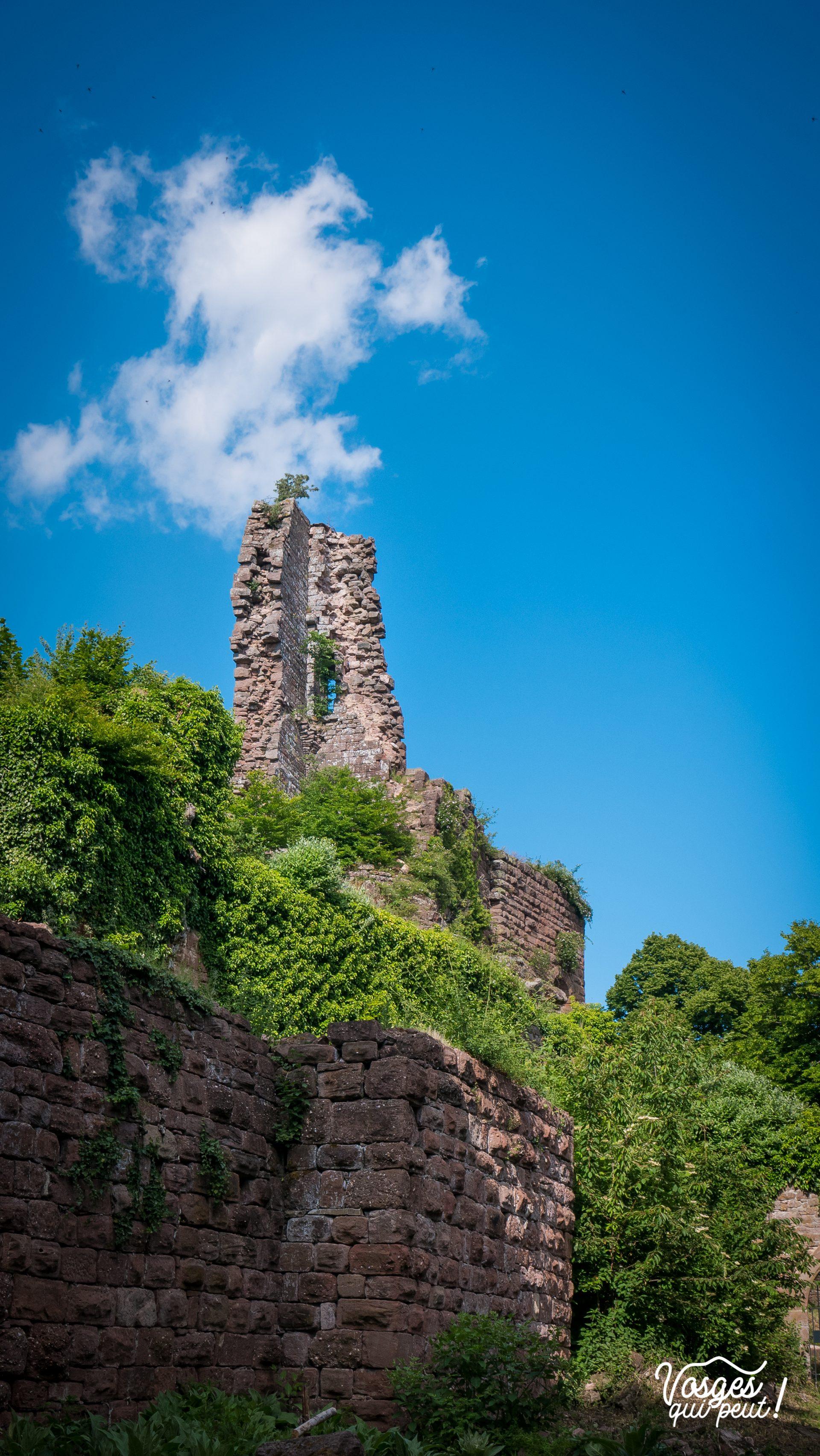 Les restes du donjon du Guirbaden