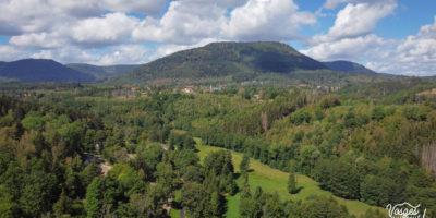 Vue aérienne sur les Vosges dans la vallée de la Bruche