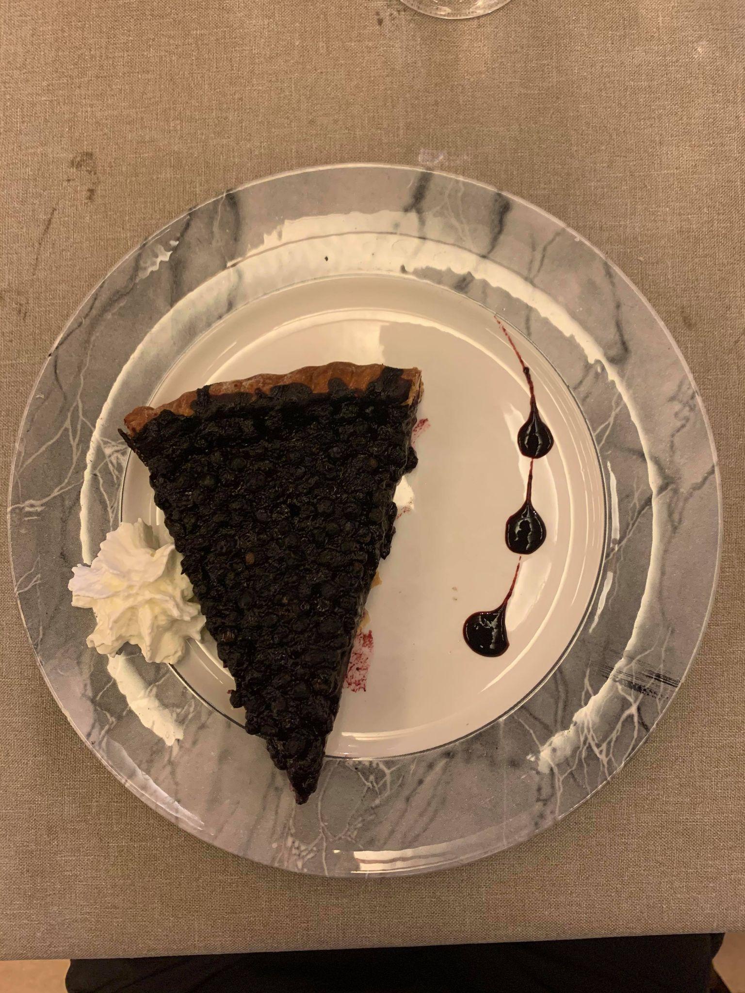 Une part de tarte aux myrtilles pendant la Nuit des Refuges