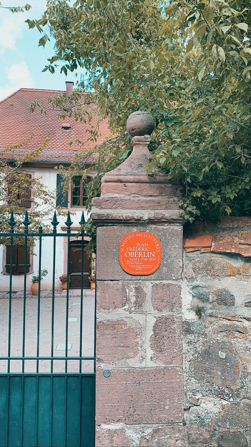 Entrée du musée Oberlin à Waldersbach dans la vallée de la Bruche