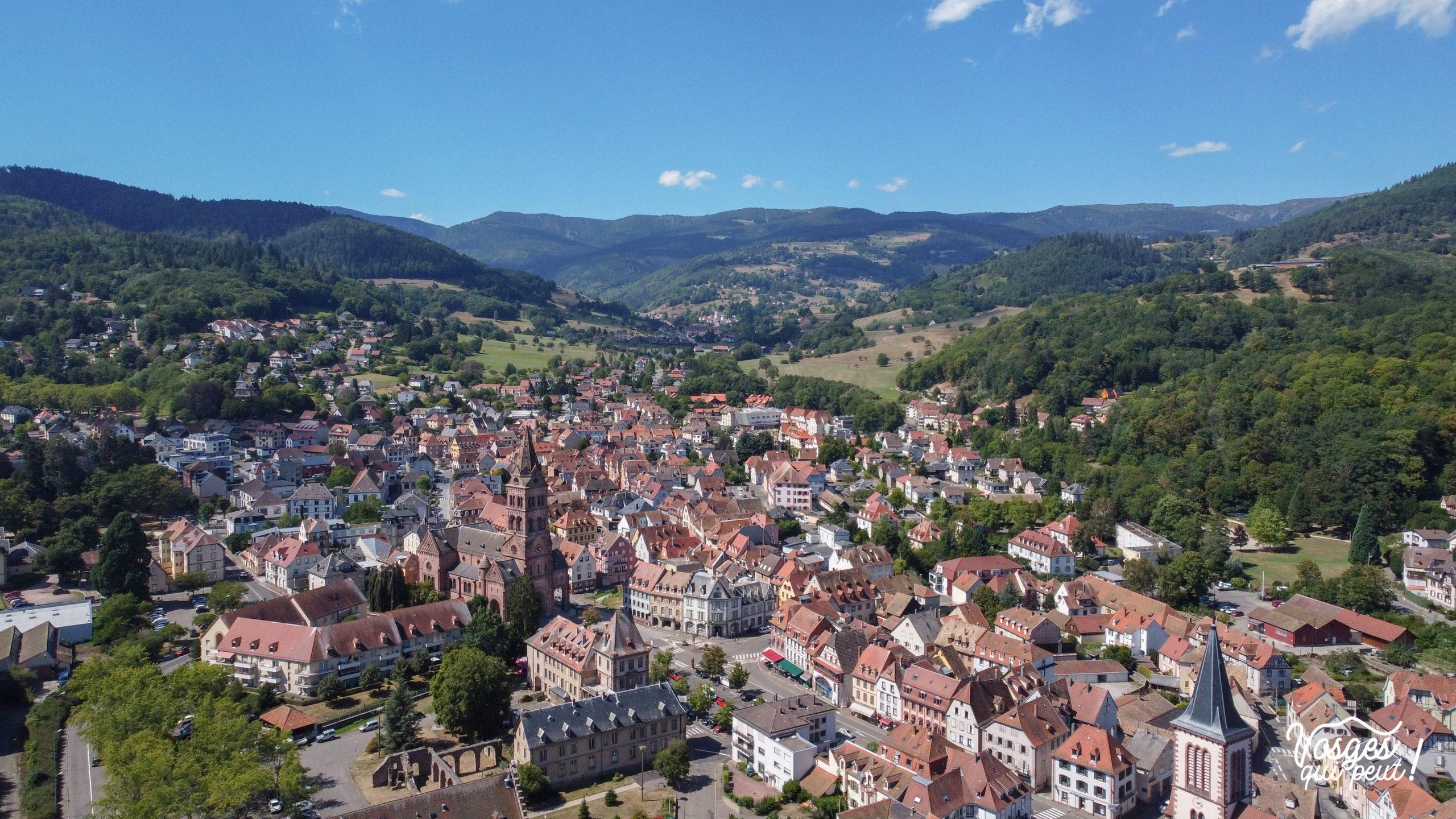 Vue aérienne de Munster en Alsace