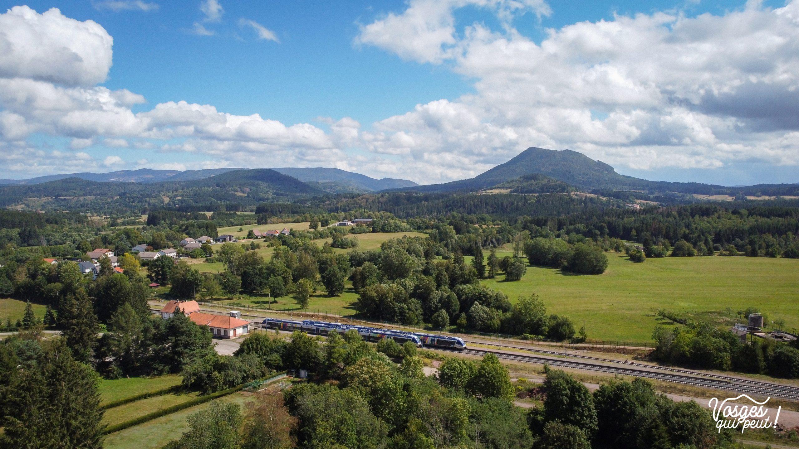 Gare de Saales dans la vallée de la Bruche, massif des Vosges