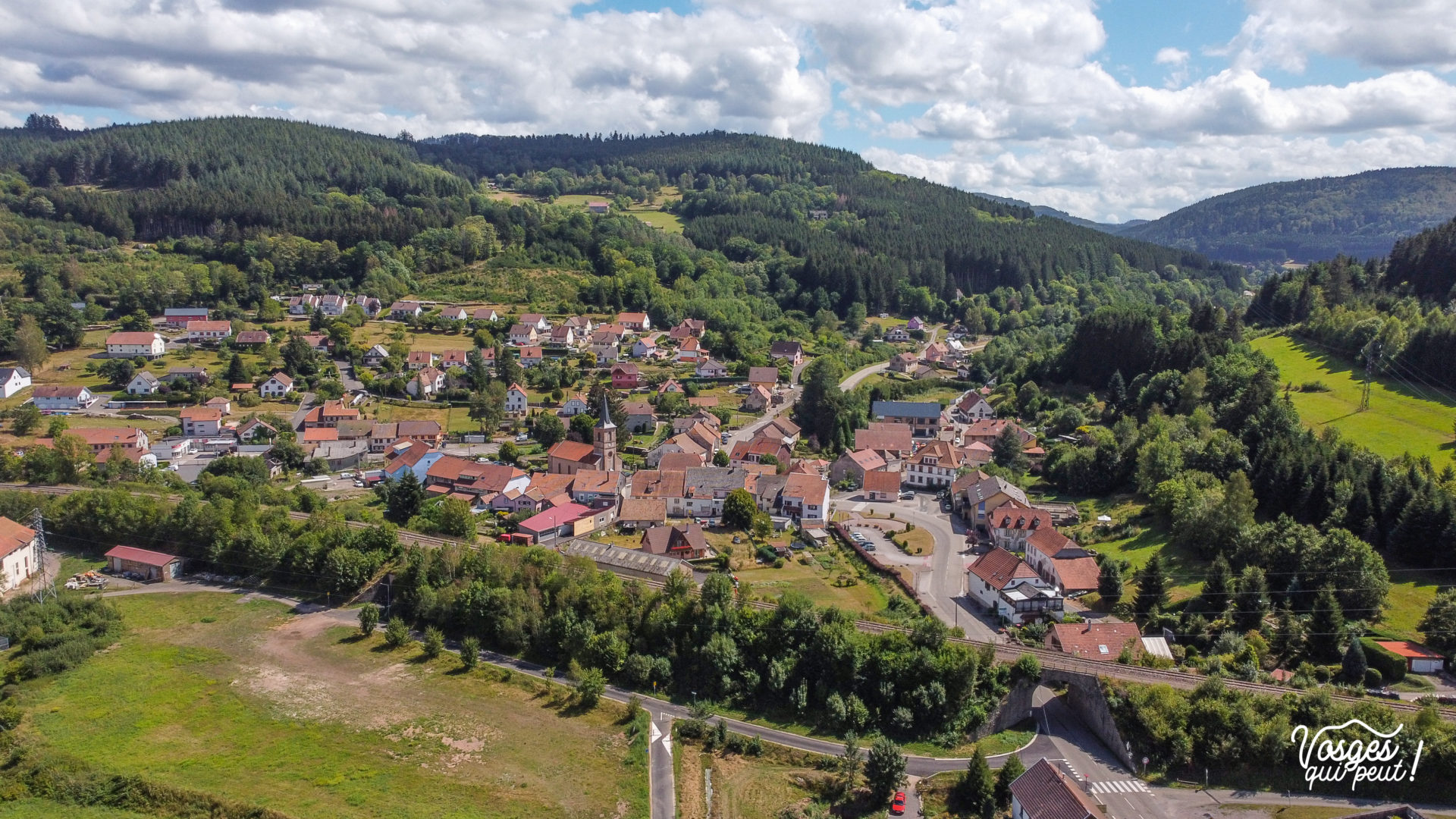 Le village de Saint-Blaise-la-Roche dans la vallée de la Bruche