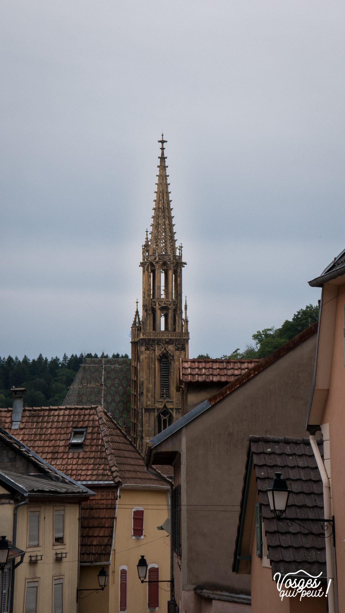 Clocher de la collégiale St-Thiébaut à Thann en Alsace
