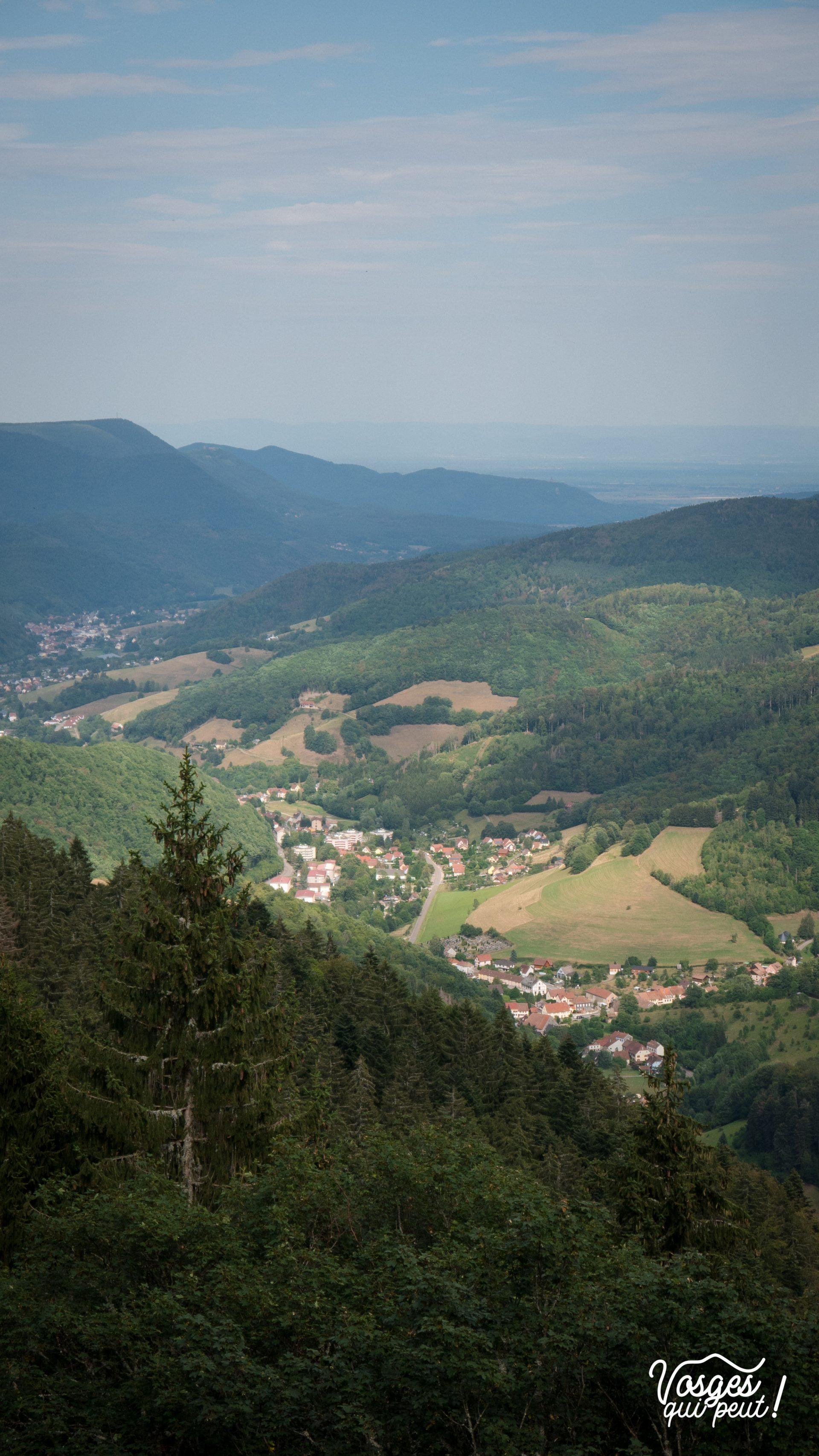 Vue sur la vallée de Sainte-Marie-aux-Mines depuis le sentier des Abris