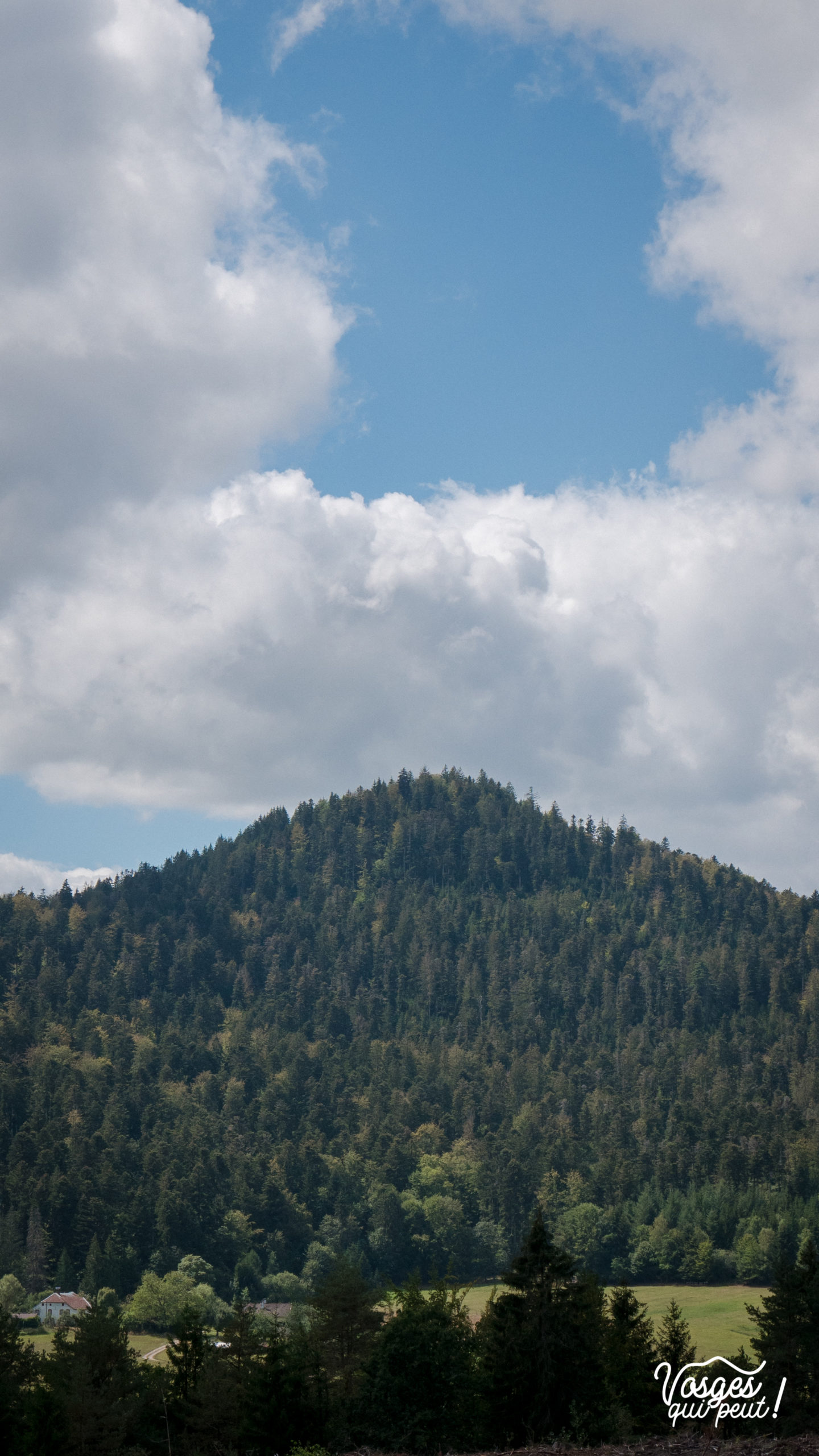 Le Voyemont depuis le village de Saales dans la vallée de la Bruche