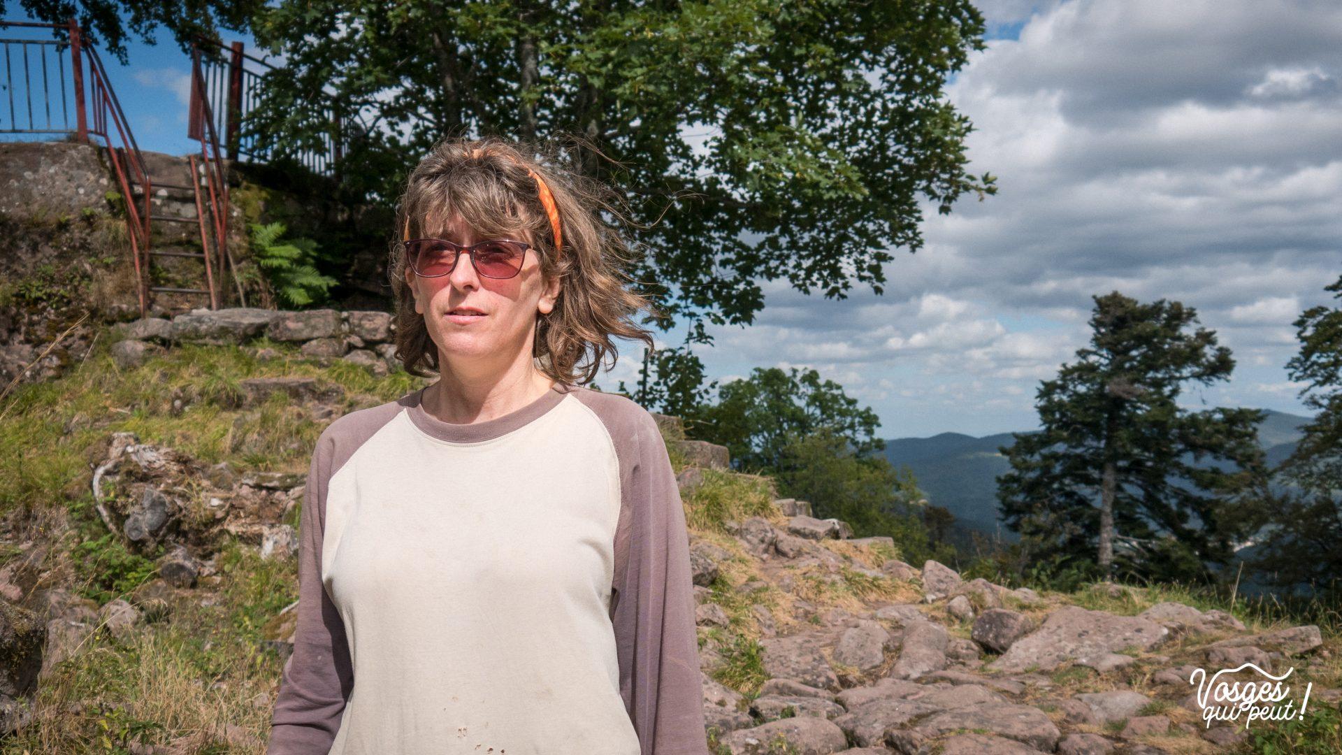 Portrait de Cécile, présidente de l'association Les Veilleurs de Salm