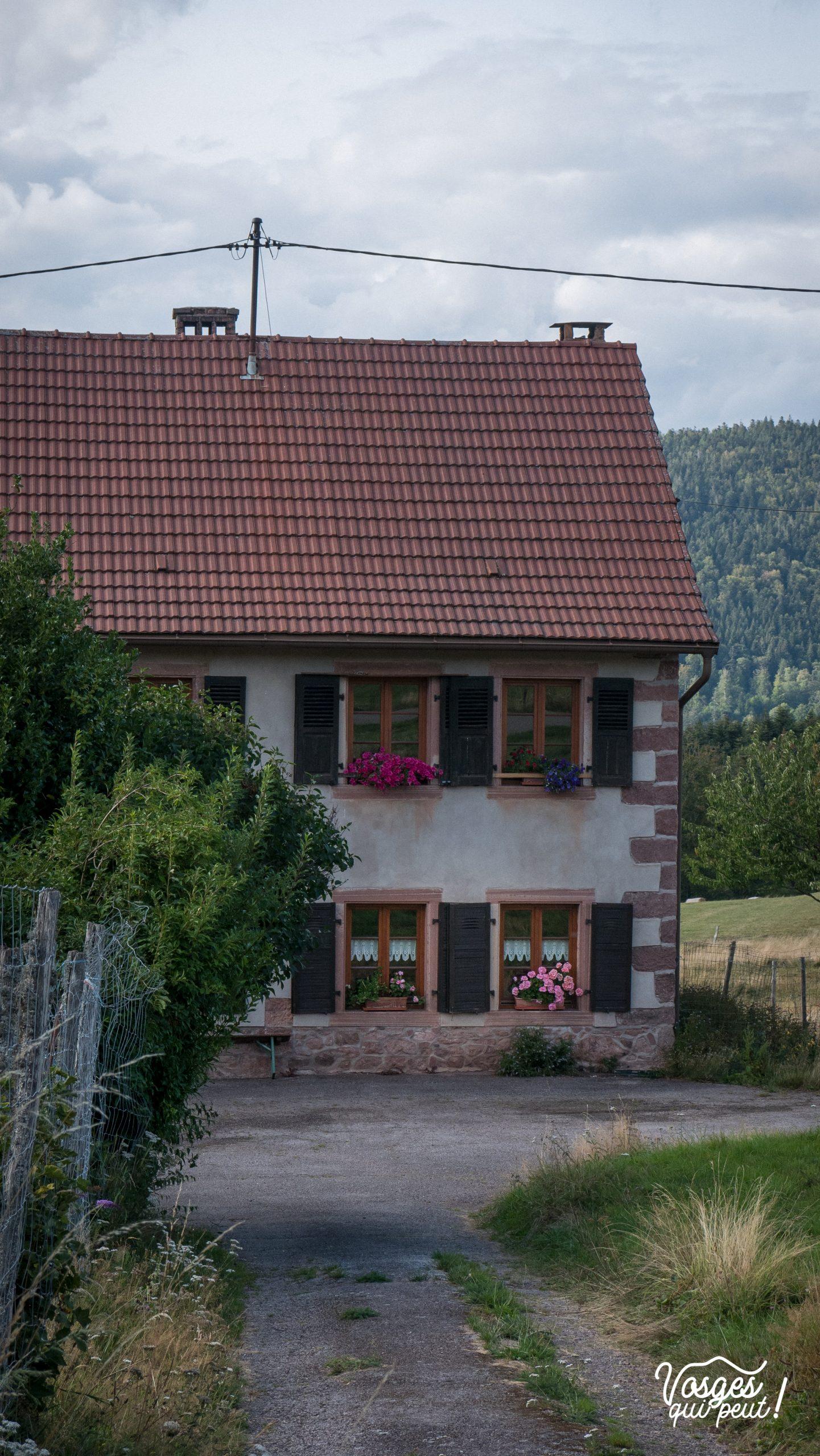 Une maison dans le hameau de Salm dans la vallée de la Bruche