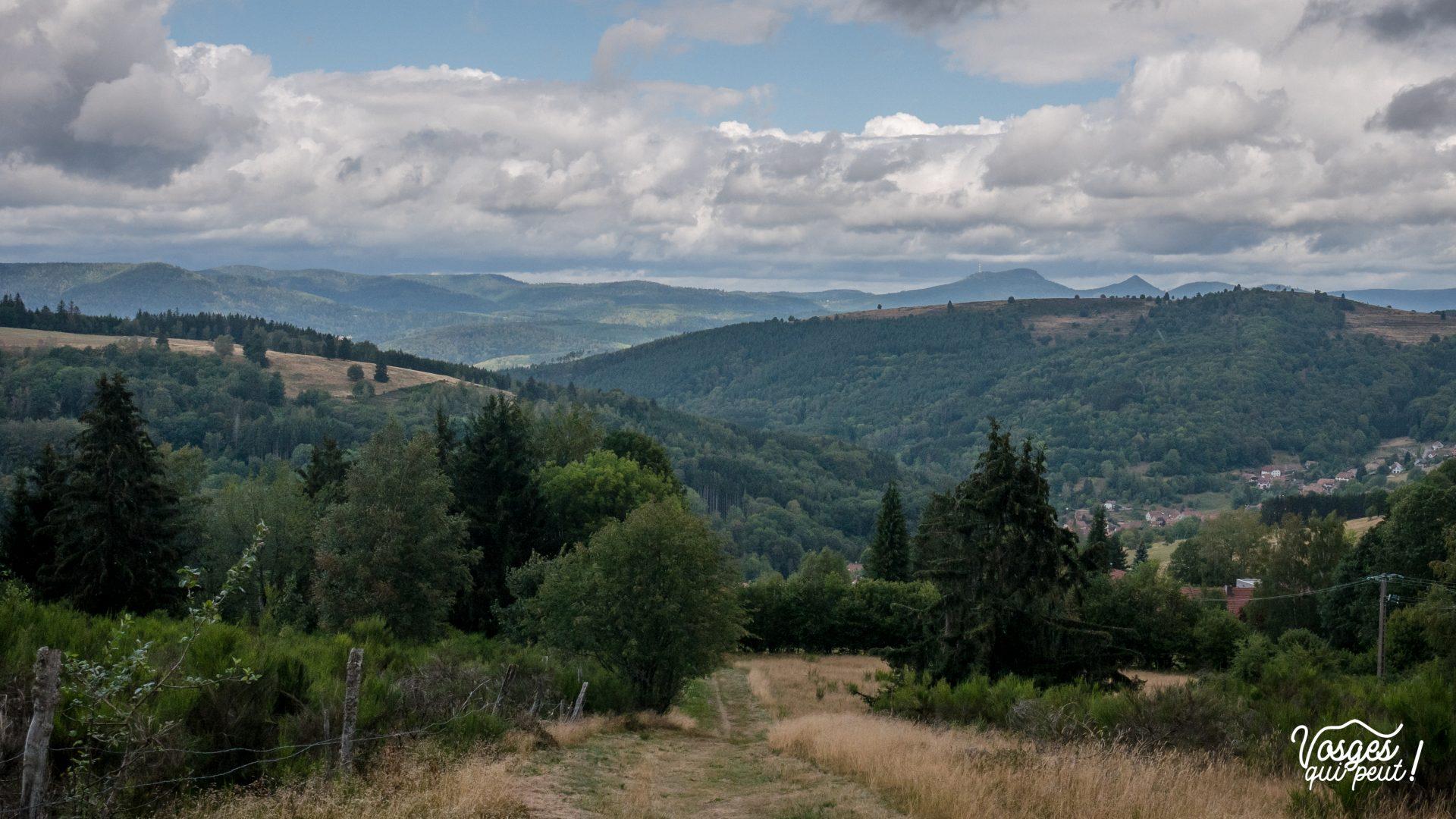 Paysage de la haute vallée de la Bruche dans les Vosges