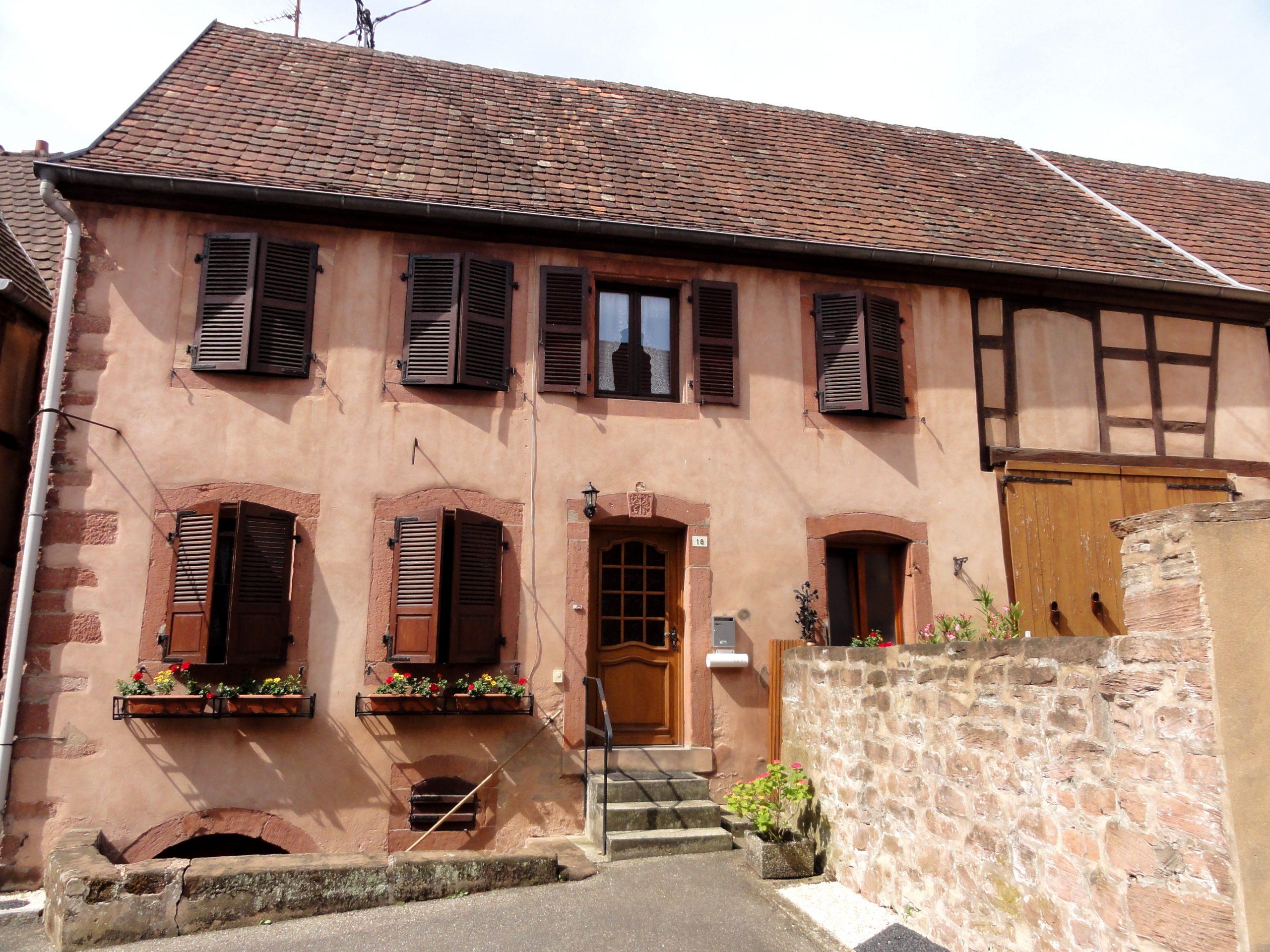 L'une des maisons remarquables de Neuwiller-lès-Saverne