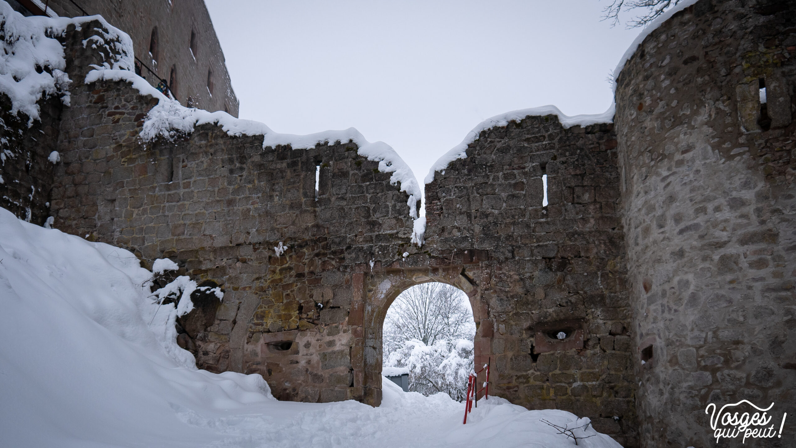L'entrée du château d'Andlau