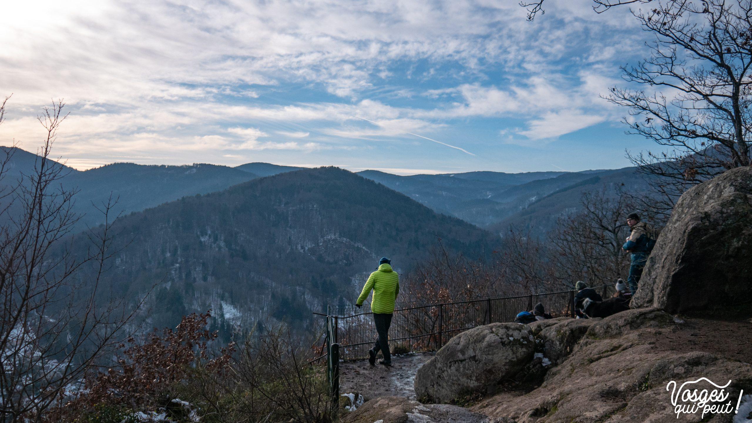 Panorama depuis le Rocher Ste-Richarde dans les Vosges