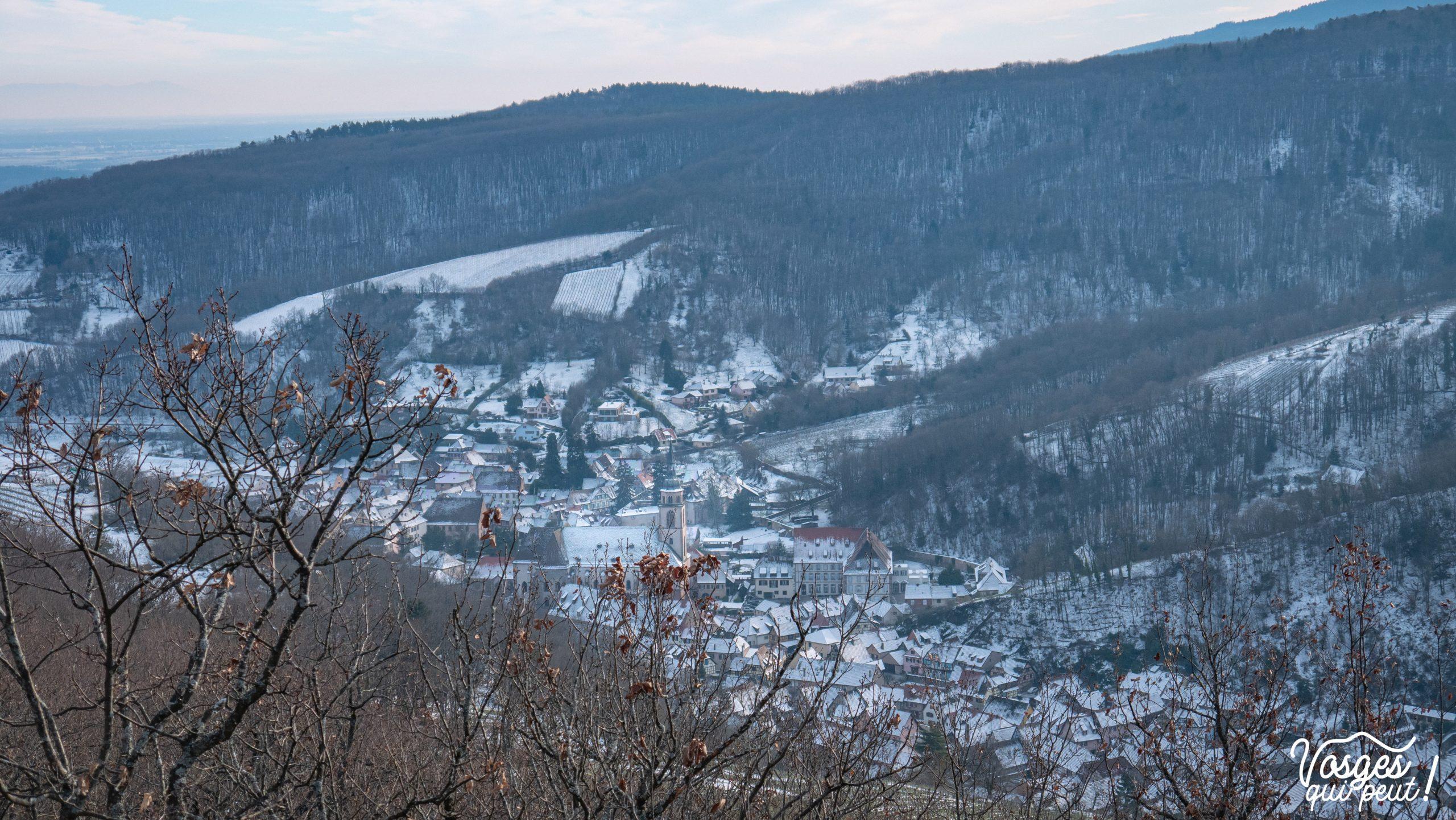 Vue sur Andlau depuis le Rocher Ste-Richarde dans les Vosges