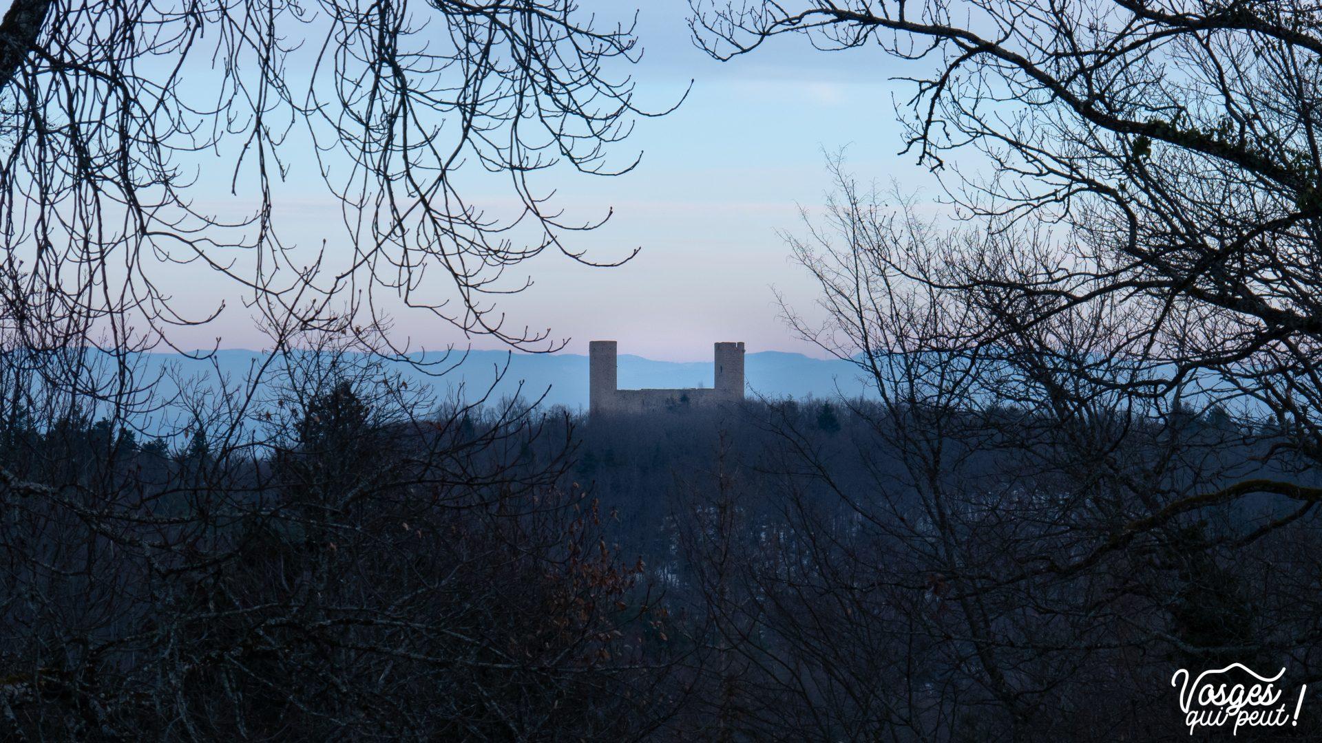 Le château d'Andlau dans le massif des Vosges