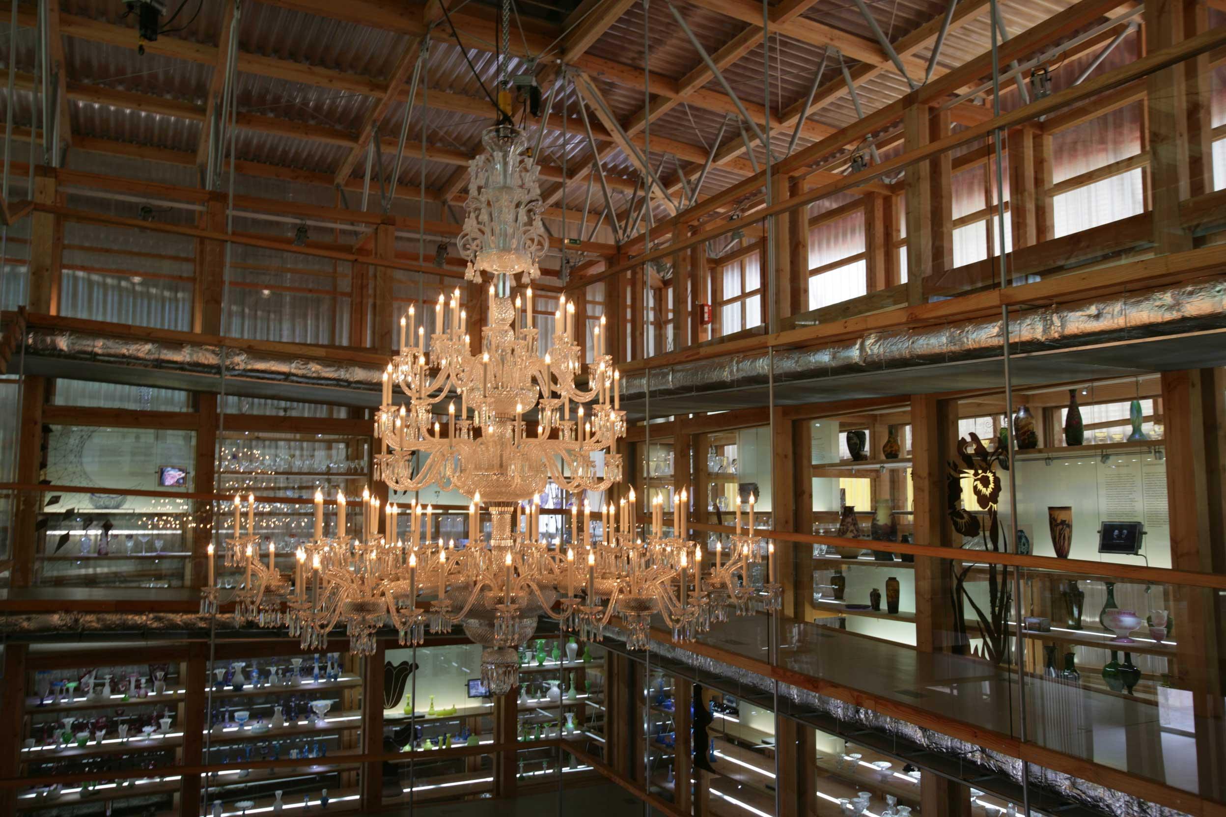 Intérieur de la cristaller Saint-Louis dans le Pays de Bitche