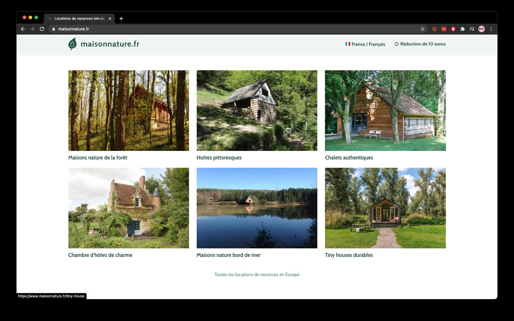 Capture écran du site maisonnature.fr