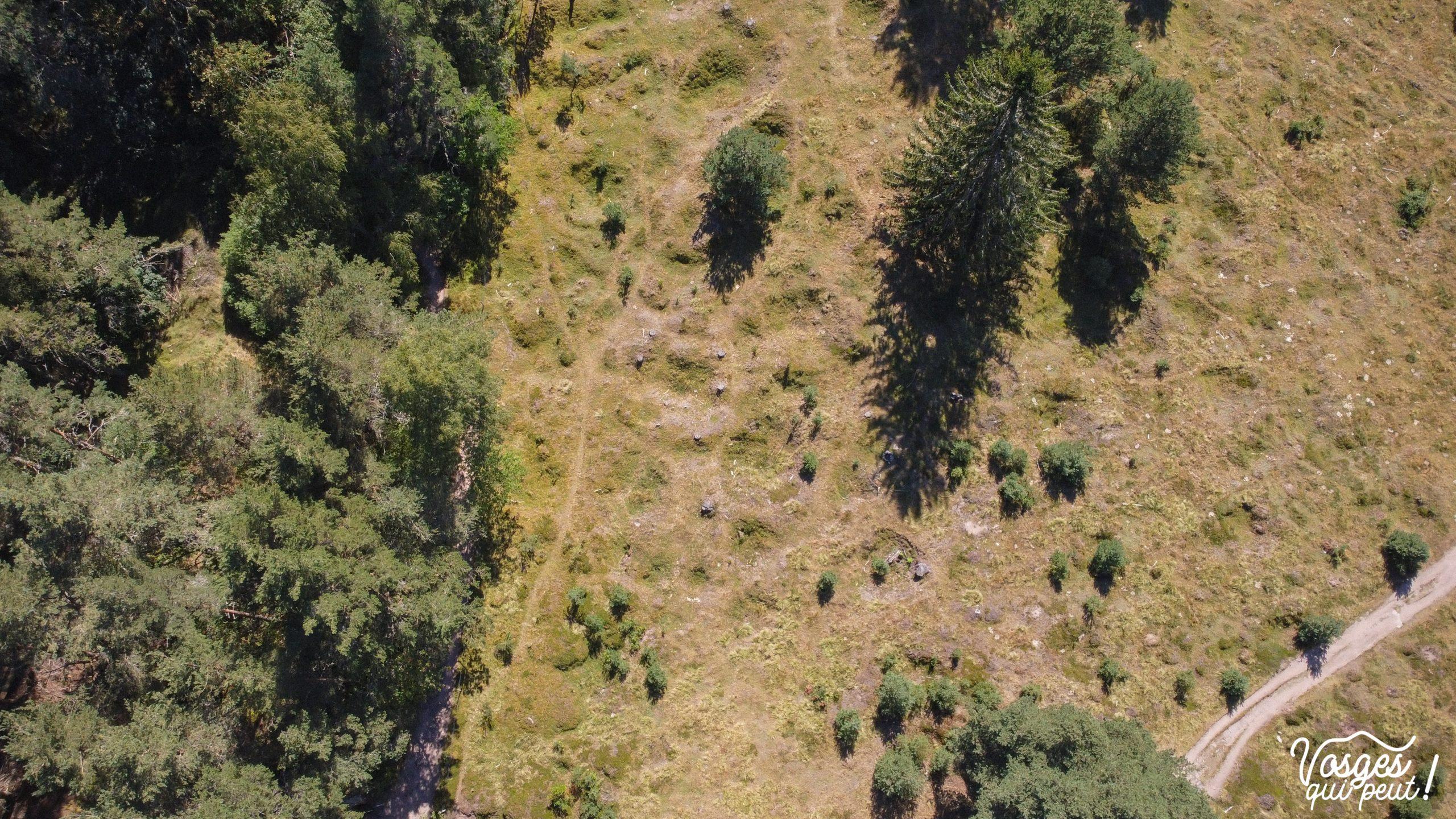 Vue aérienne du Glasborn