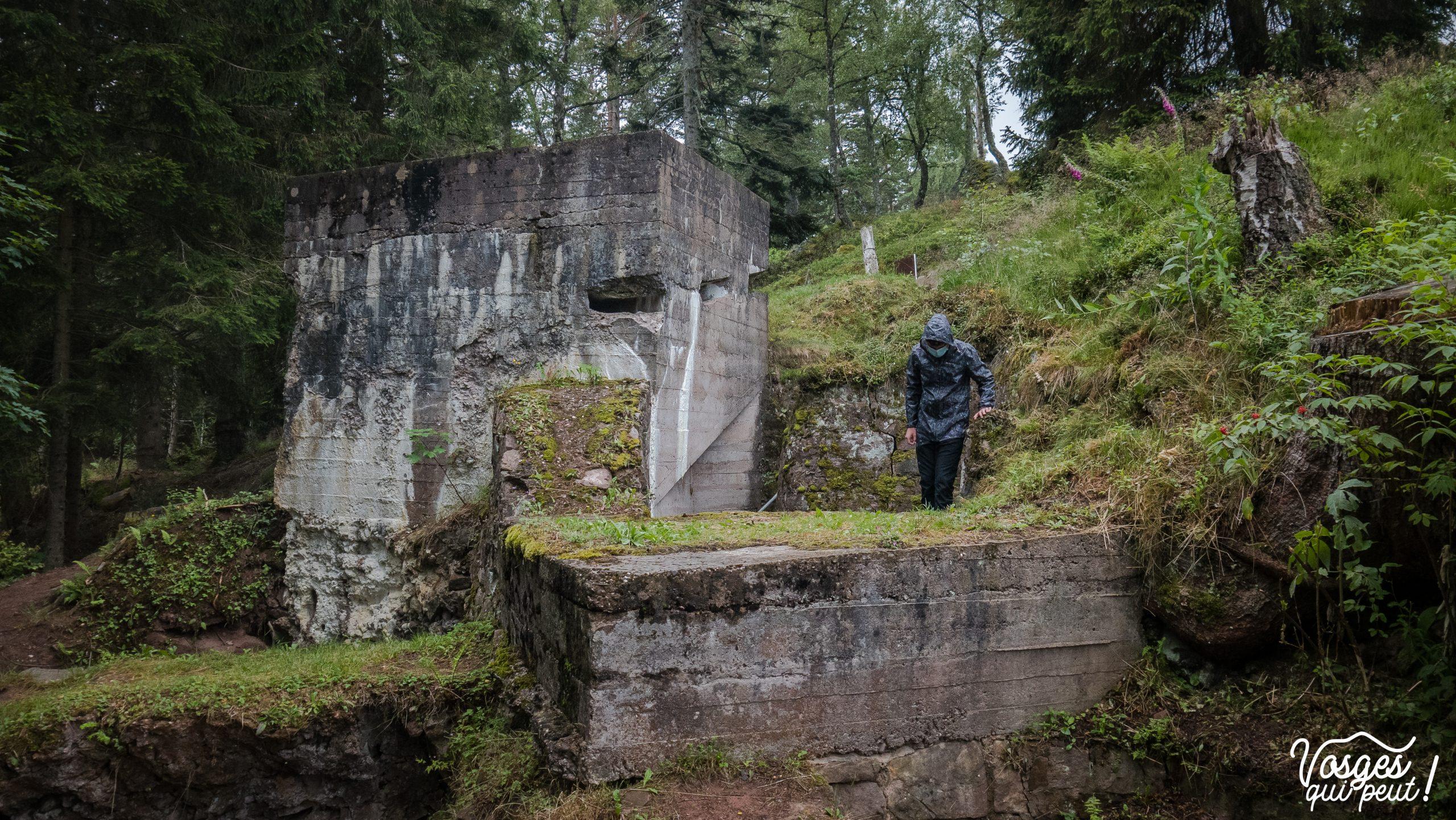 Blockhaus sur le champ de bataille du Linge dans les Vosges