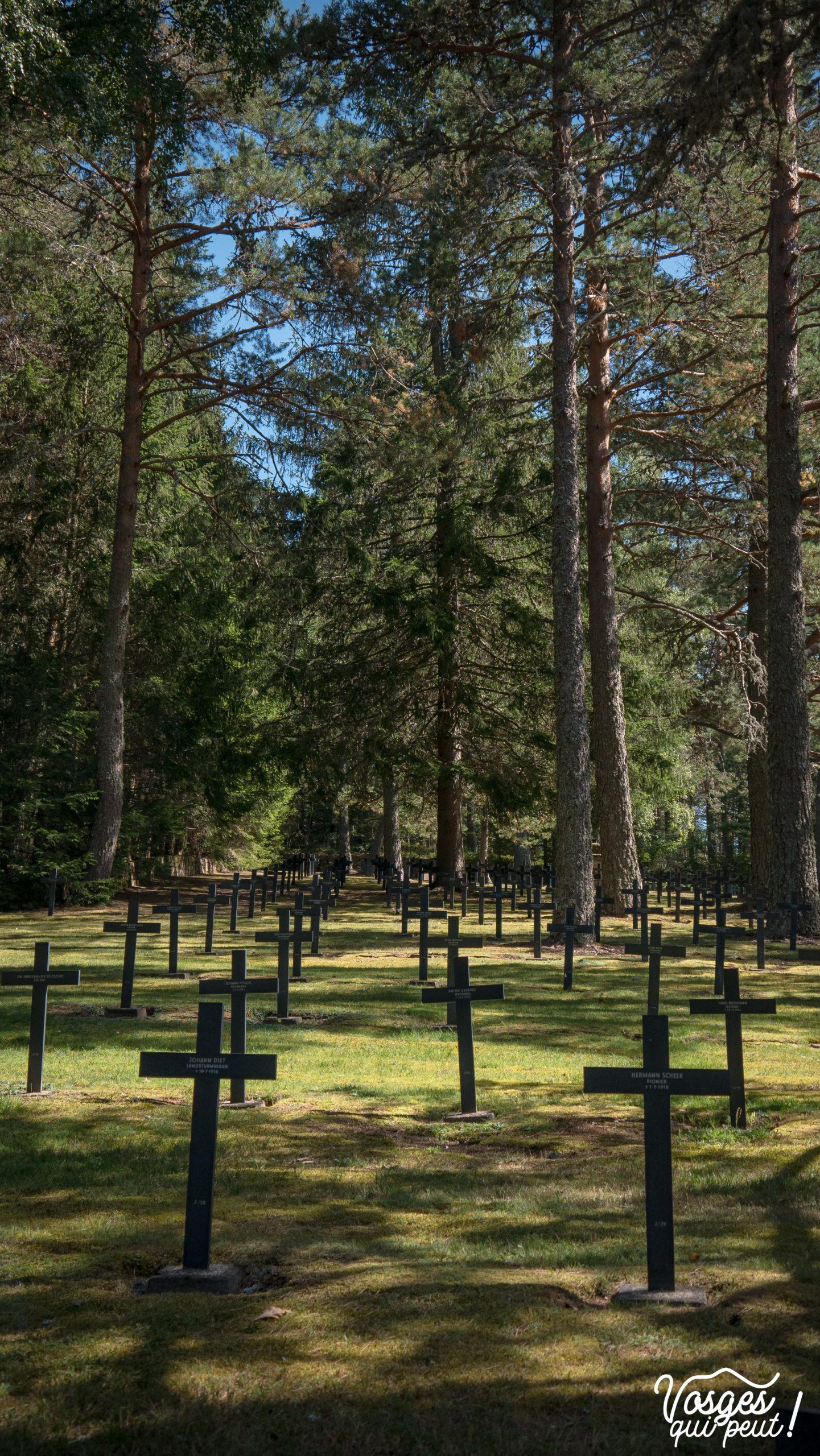 Le cimetière militaire allemand du Baerenstall dans les Vosges