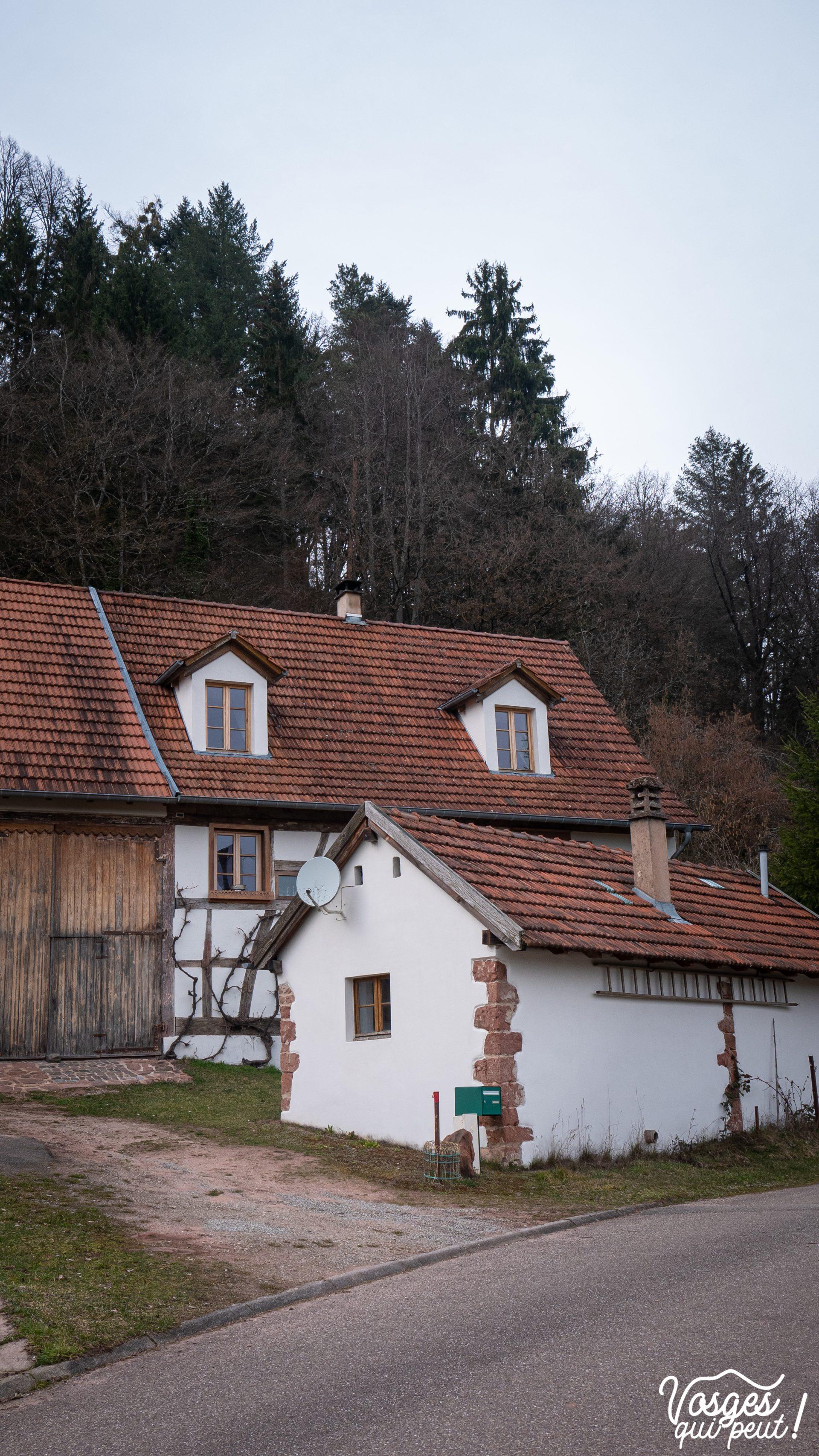 Maison à colombages dans le village de Waldeck