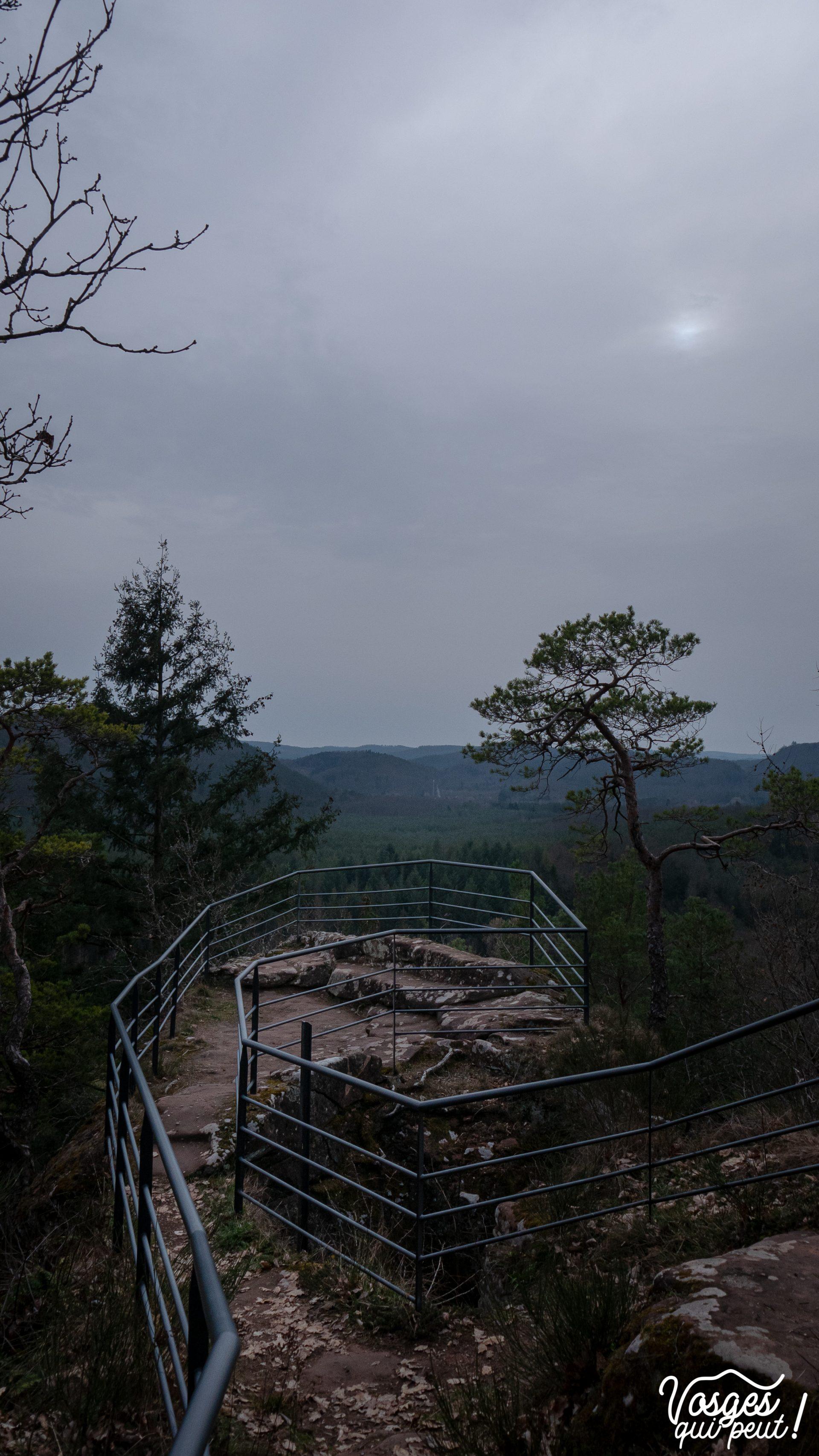 Vue sur les Vosges du Nord depuis le château de Waldeck