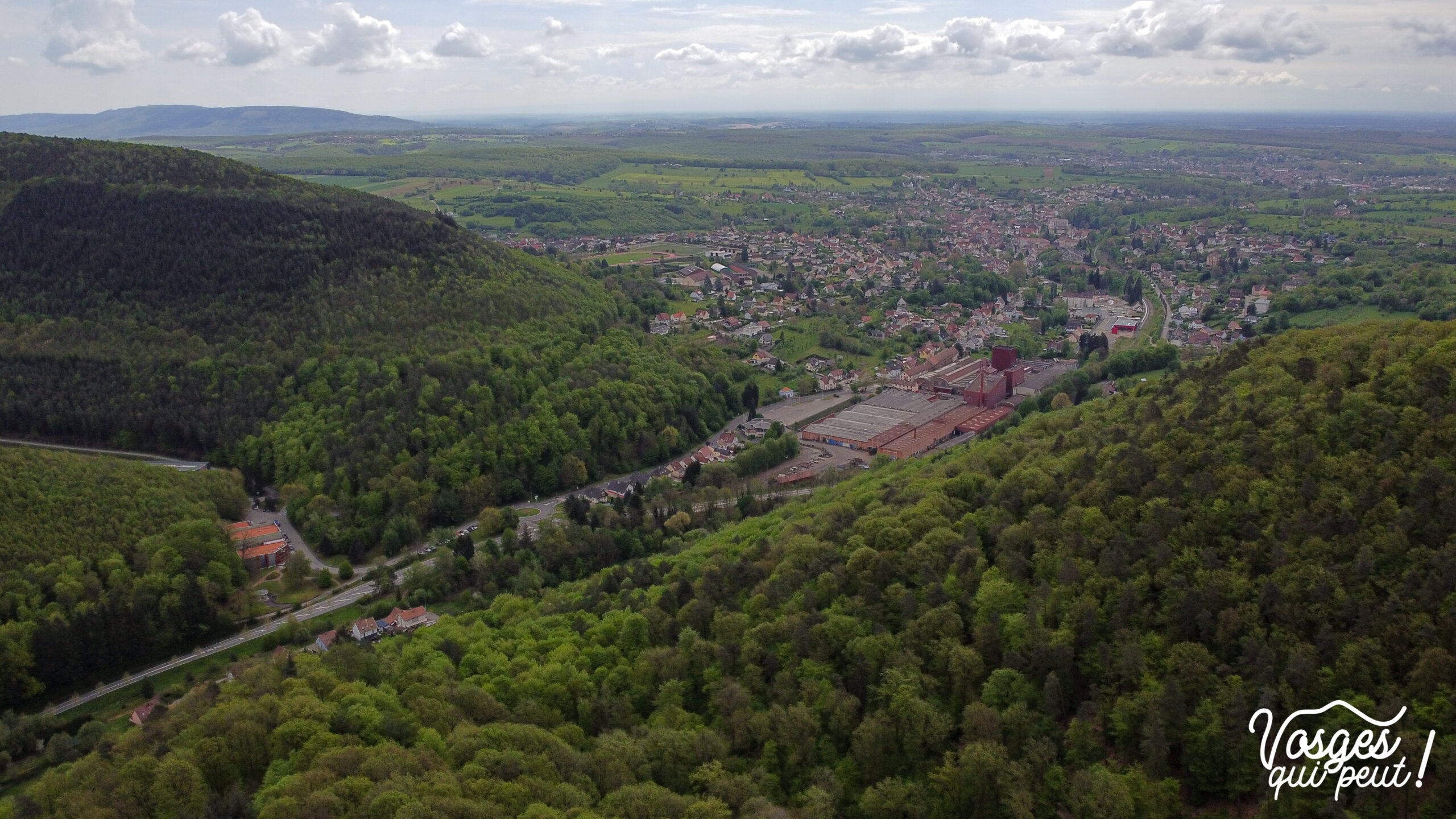 Vue sur Niederbronn-les-Bains depuis le château du Wasenbourg