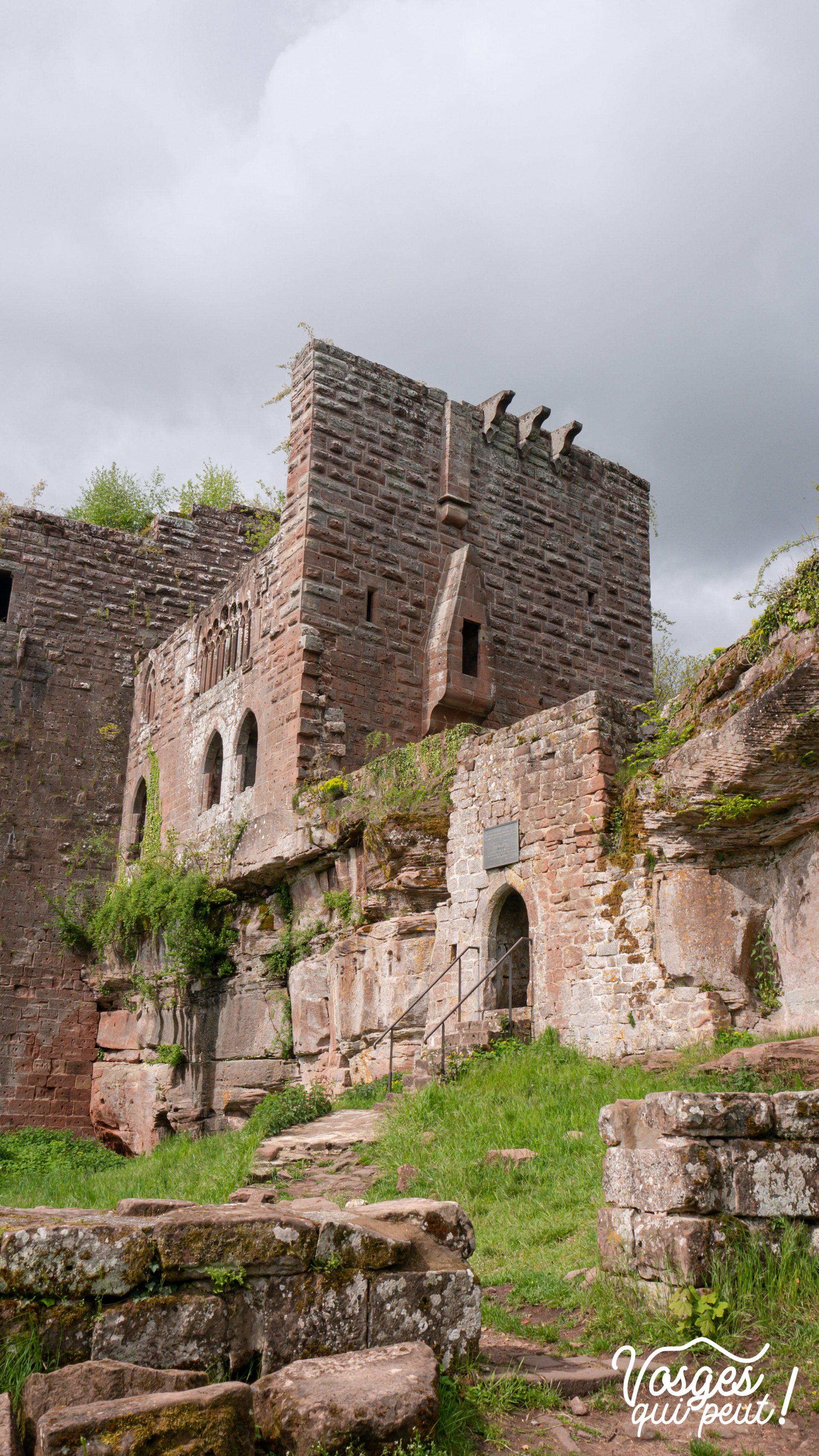 Le château du Wasenbourg dans les Vosges du Nord