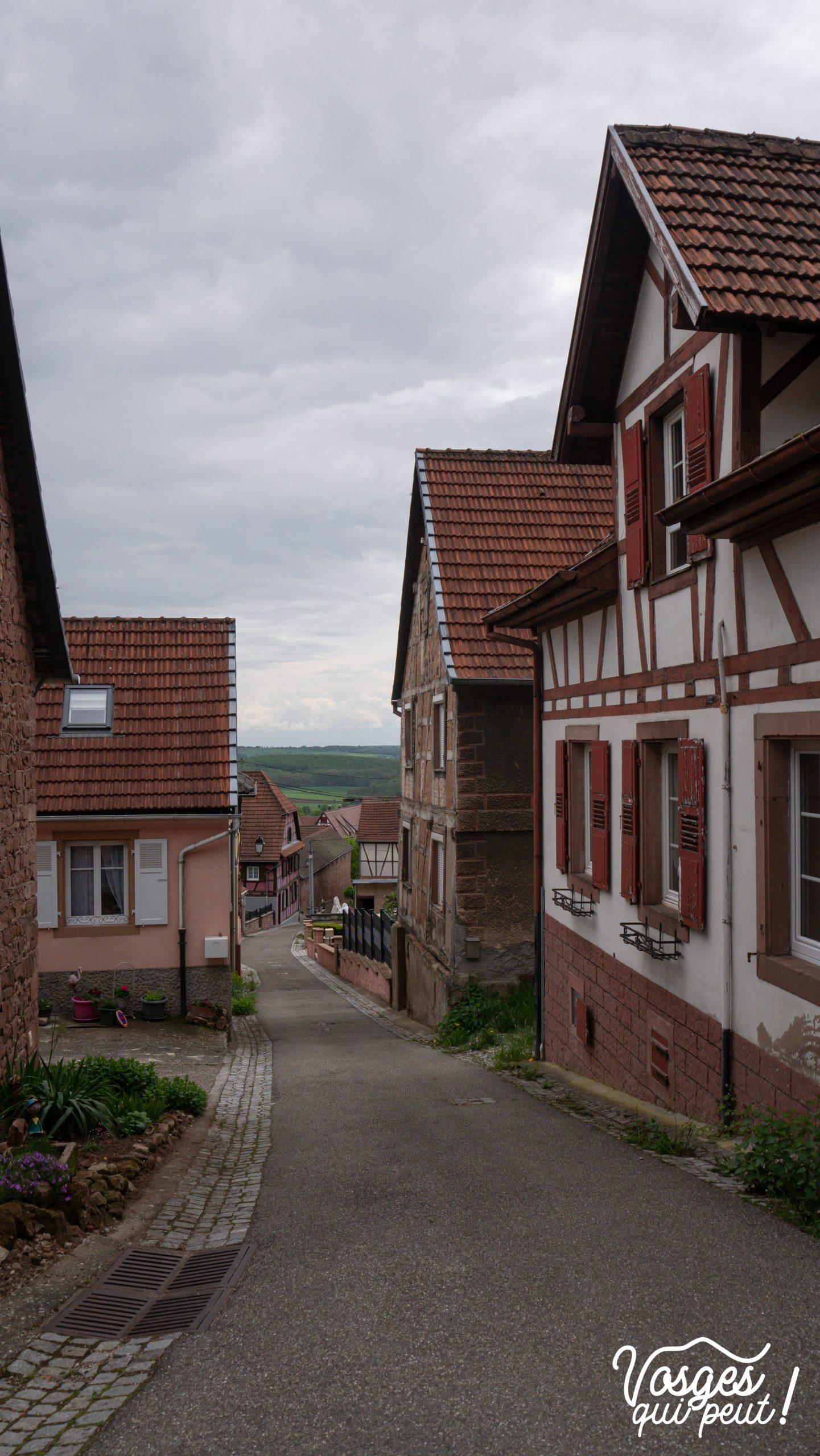 Le village d'Oberbronn dans les Vosges du Nord