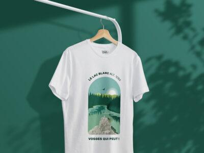 """T-shirt """"Vosges qui peut !"""" lac Blanc"""