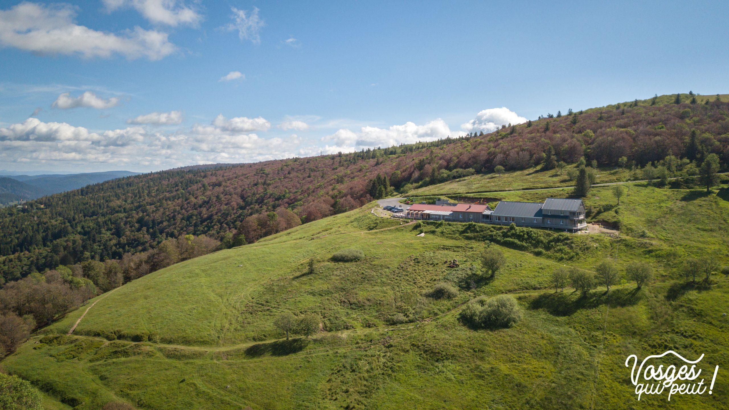 Vue aérienne du Refuge du Sotré dans les Vosges